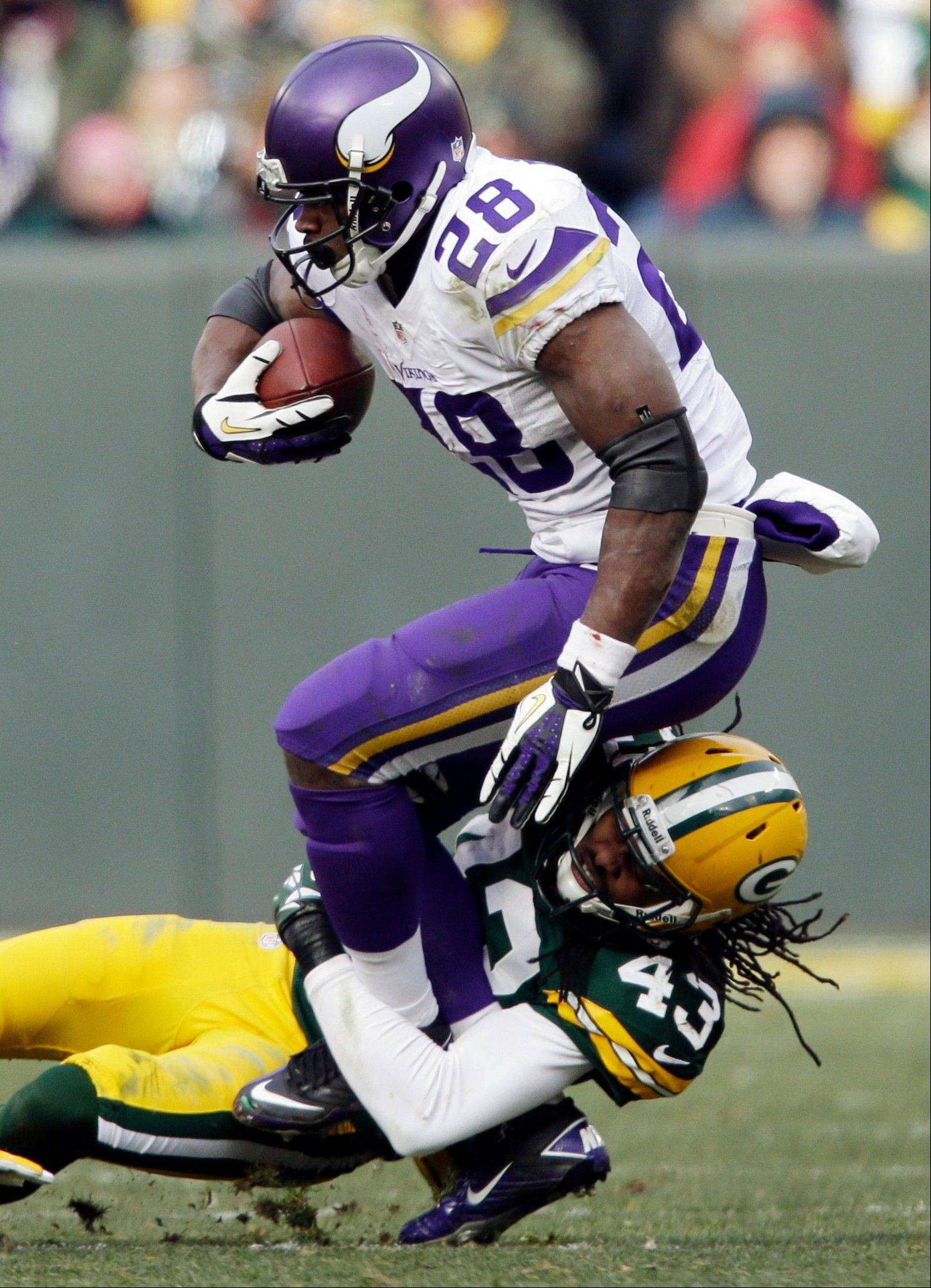 Vikings running back Adrian Peterson is always a handful for opposing defenses.
