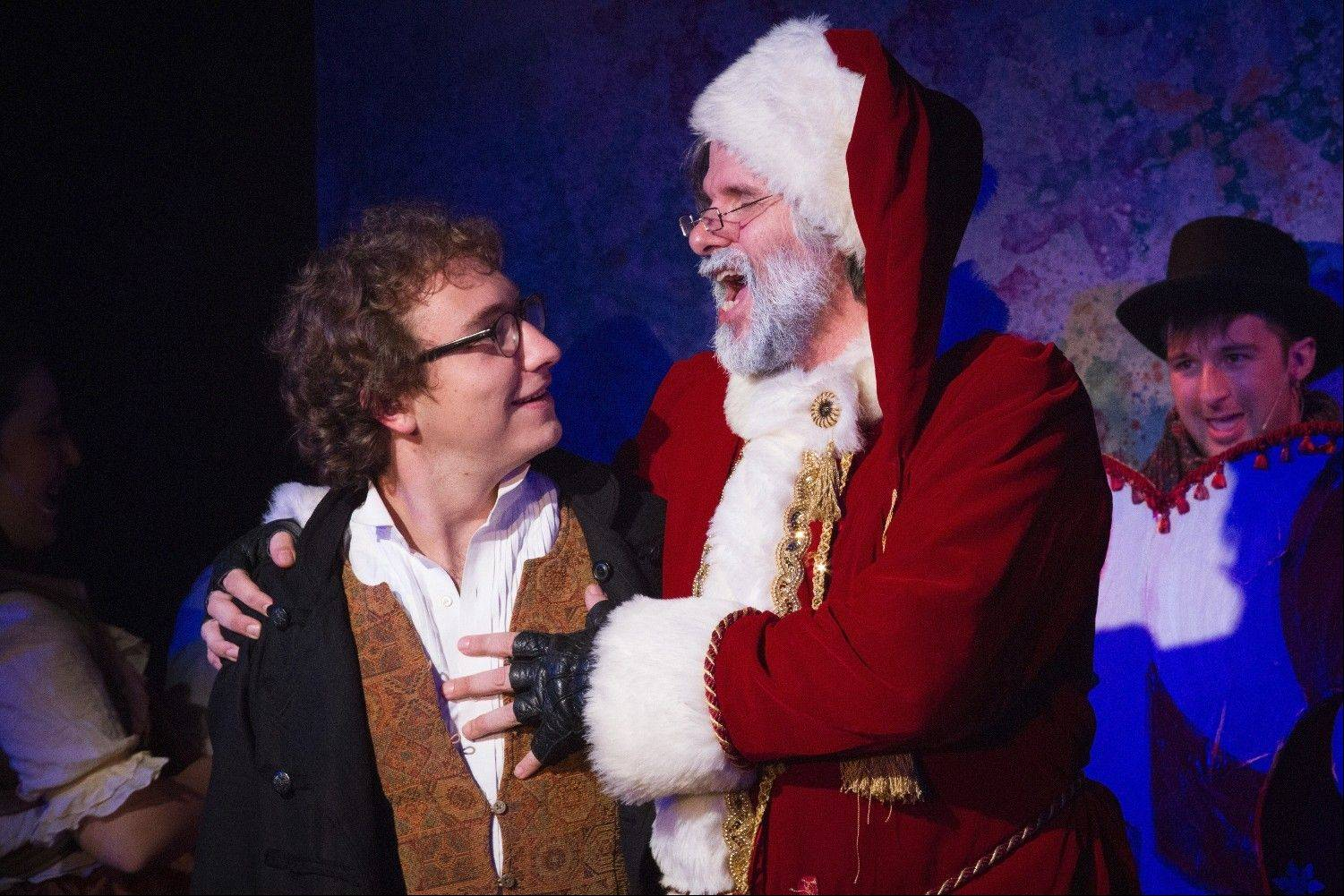"Andrew Behling, left, plays Dasher the reindeer in Quest Theatre Ensemble's ""The People's Christmas Wish."""
