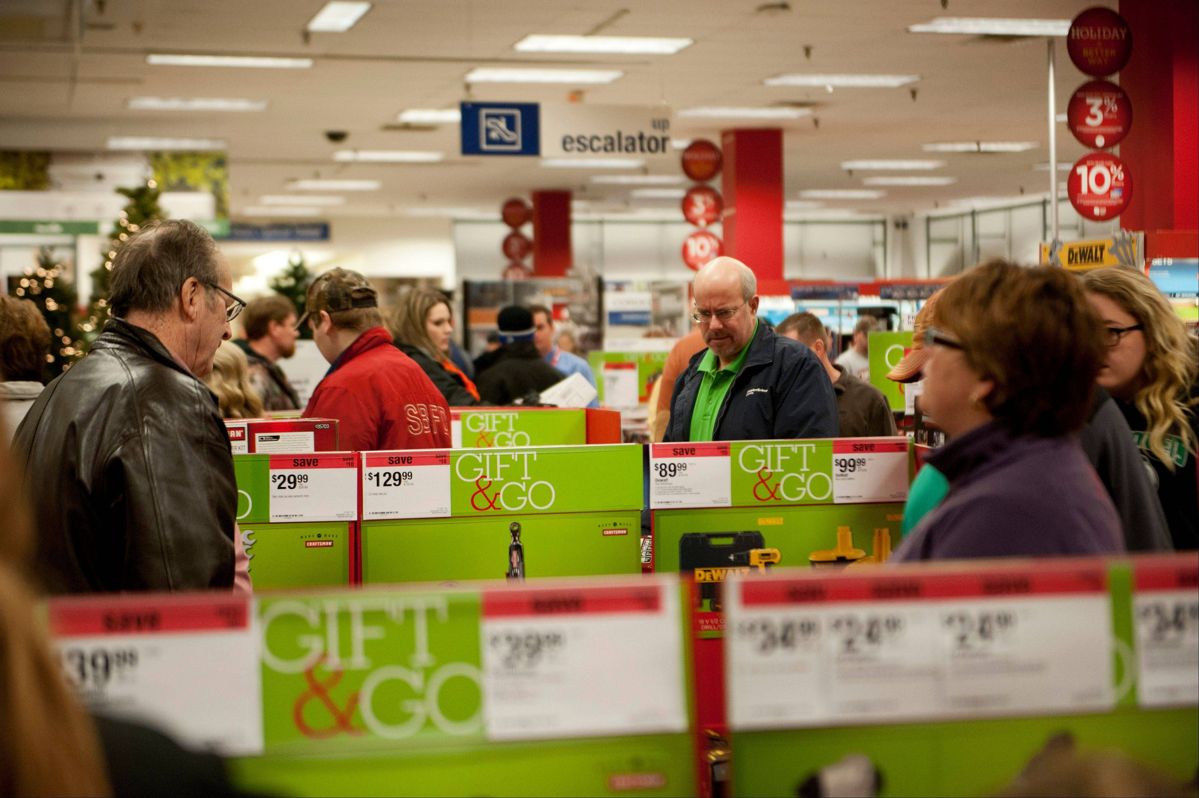 Associated PressShoppers browse sale merchandise at a Sears Holdings Corp. store in Peoria,