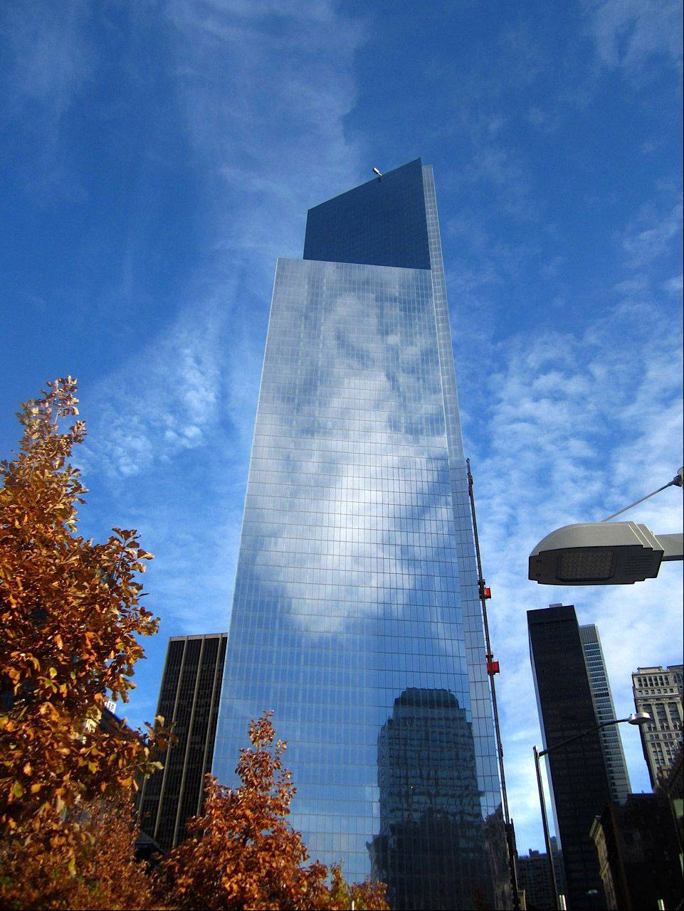 Clouds are reflected in the Sept. 11 Memorial earlier this month in New York City.