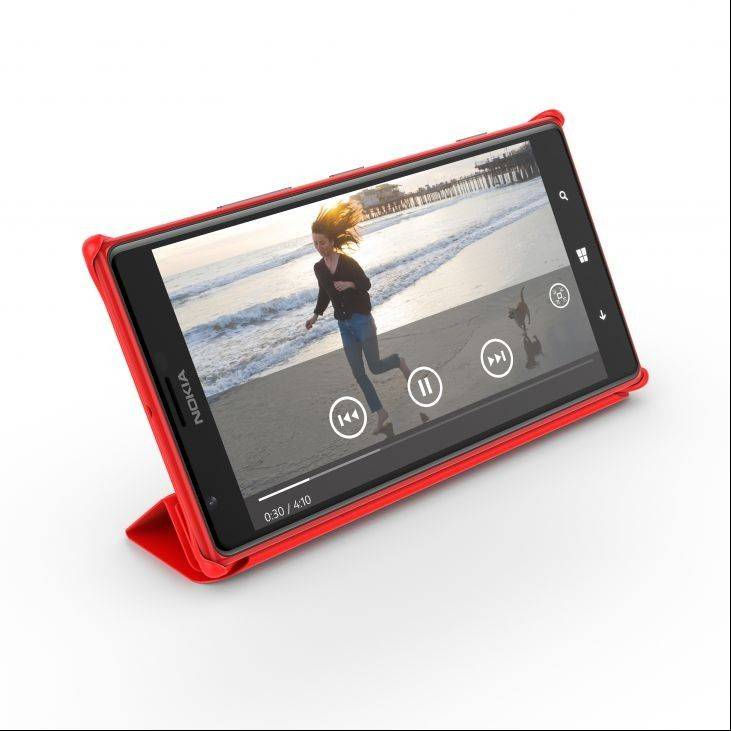 The Nokia Lumia 1520 is a Windows 8 phone and among the first of its size, made possible by a mid-October software update from Microsoft.