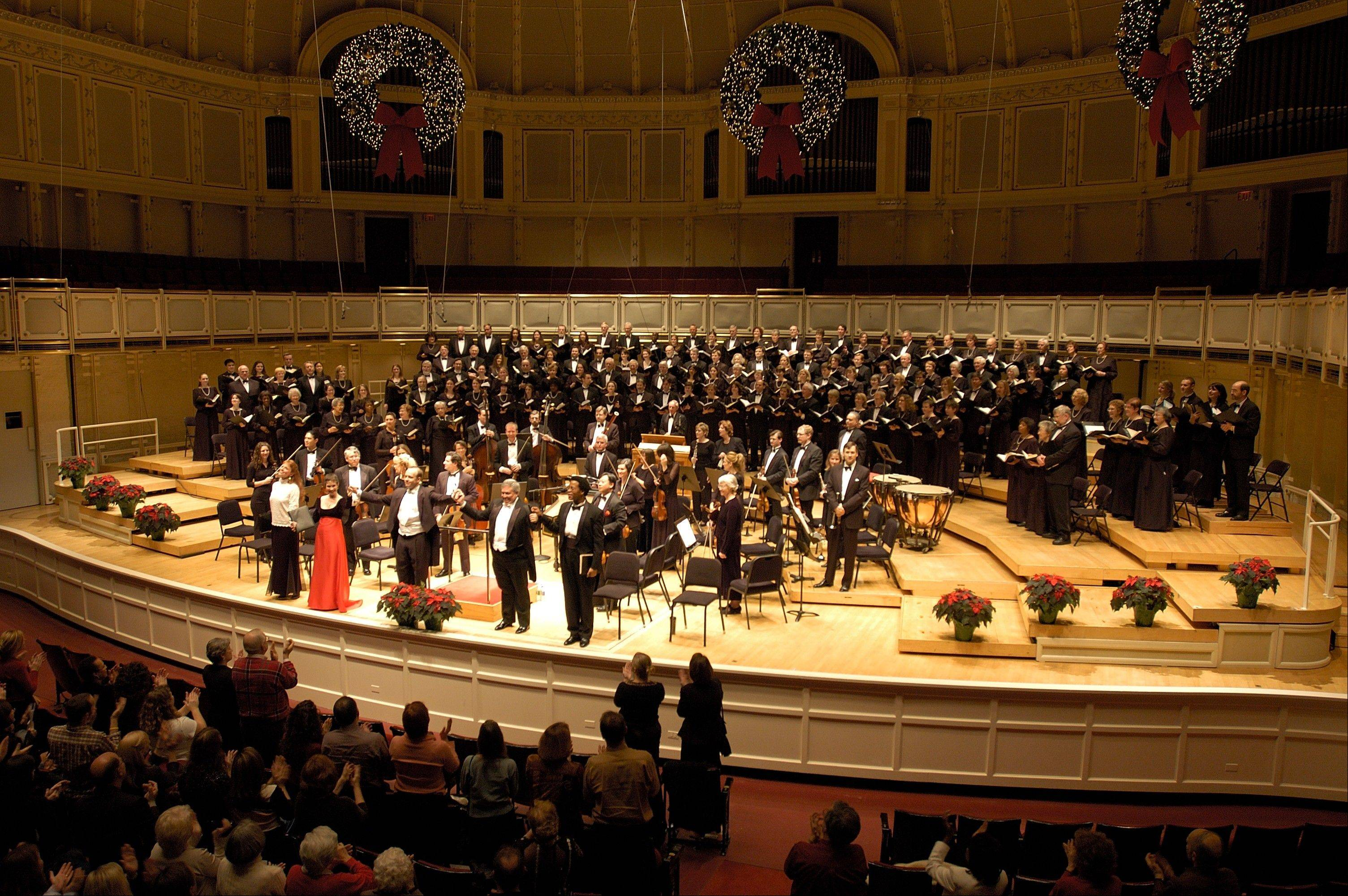 "The Apollo Chorus performs Handel's ""Messiah"" in two of Chicago's most elegant spaces, Dec. 7 at Orchestra Hall and Dec. 21 at the Harris Theater for Music and Dance."