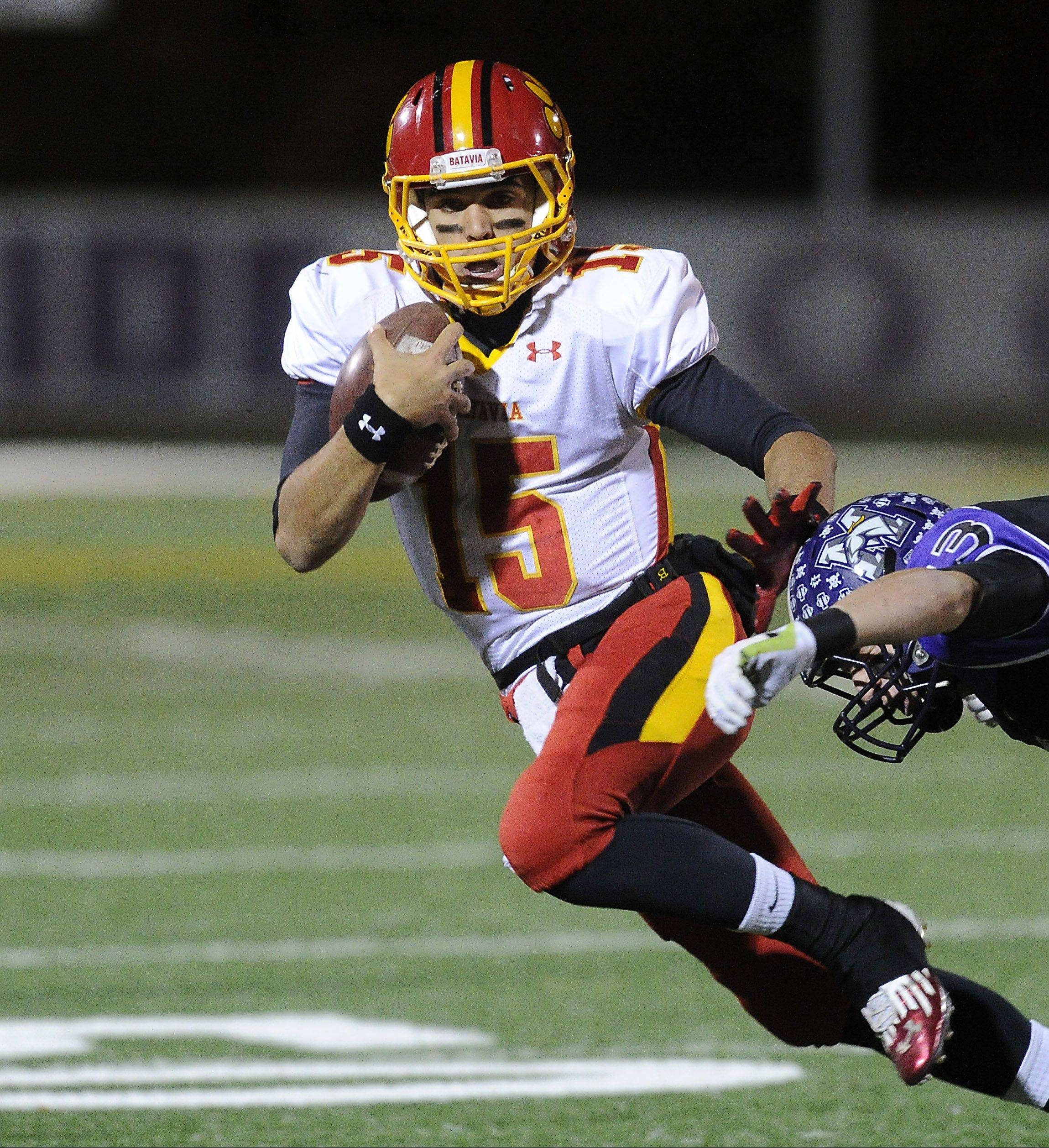 Batavia quarterback Micah Coffey has been a strong leader throughout the season for the Bulldogs.