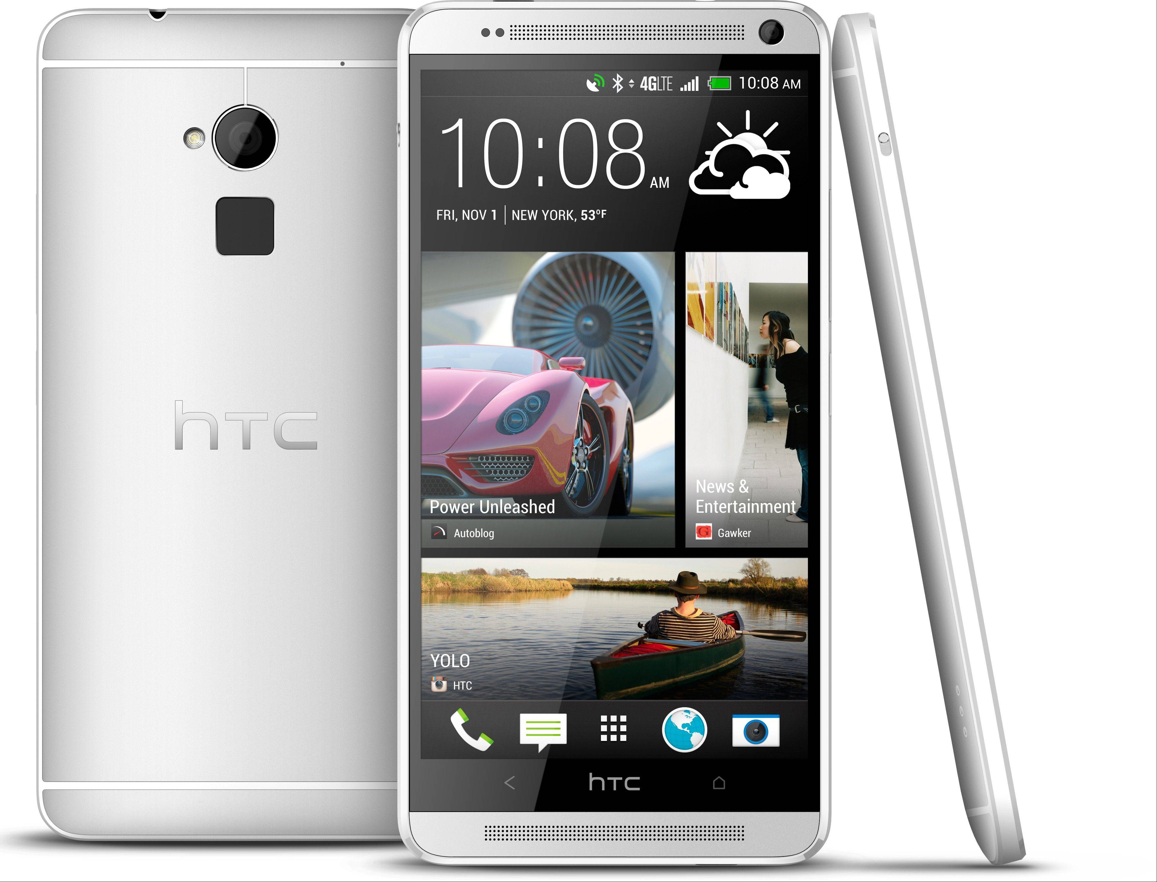 The new HTC One Max will have one feature unavailable with the smaller models: a fingerprint identification sensor similar to that on Apple's new iPhone 5S. It's an optional way to unlock a phone without needing a four-digit passcode.