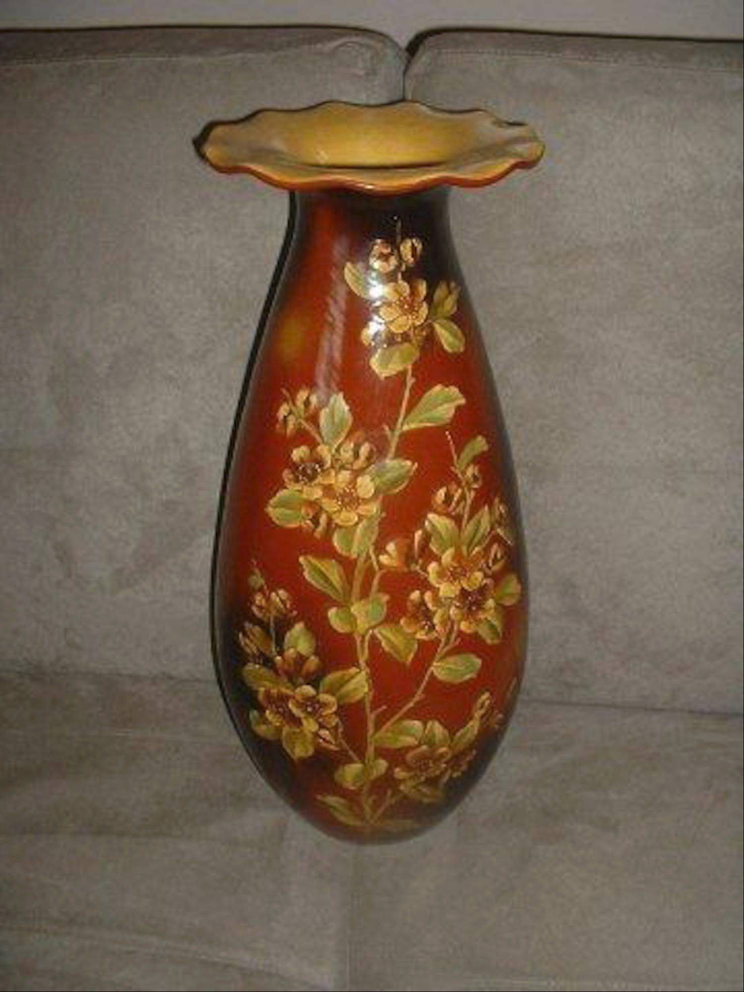 This beautiful vase is hand-painted, but does it have great value?