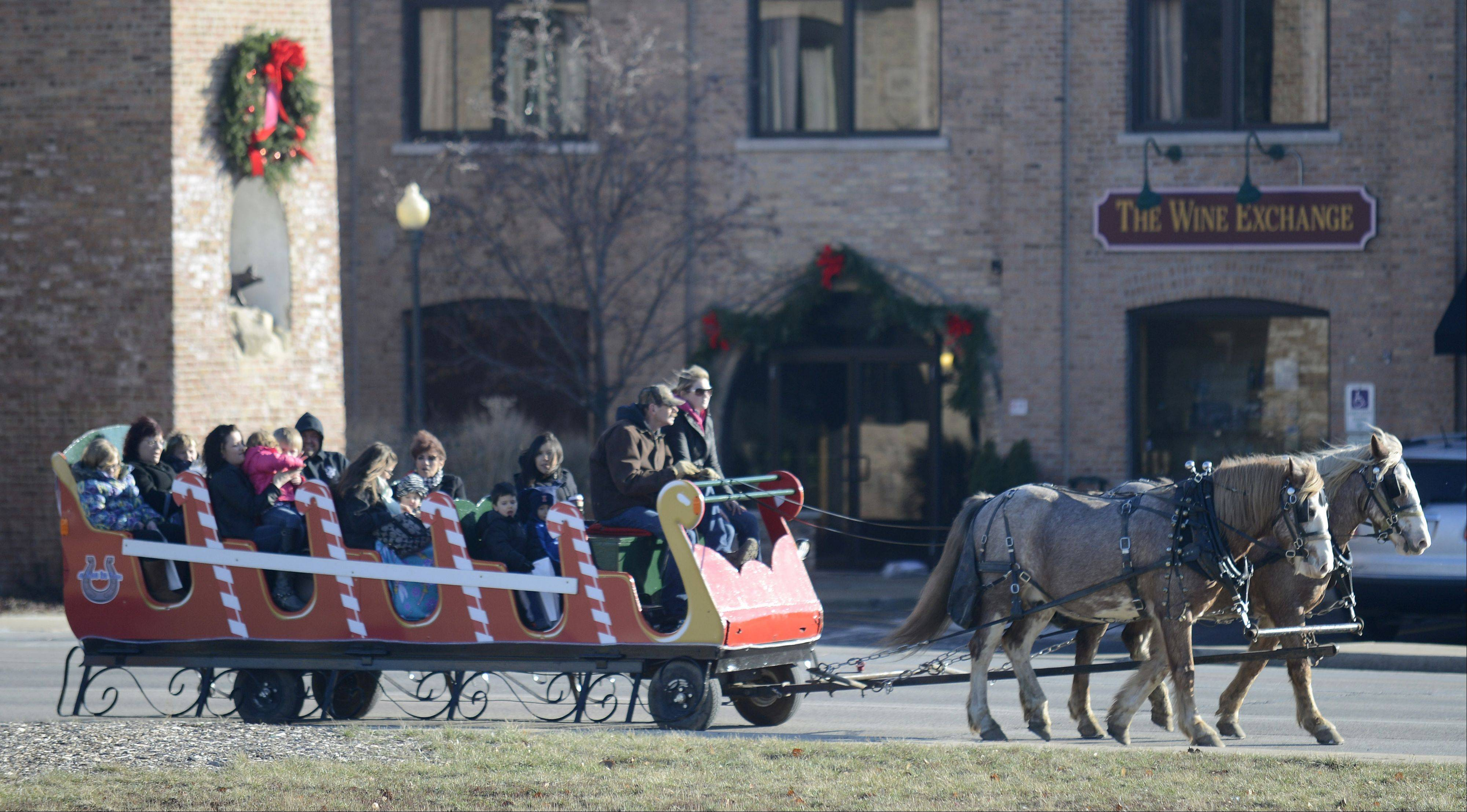 Free sleigh rides were offered Saturday during the St. Charles Holiday Homecoming near the First Street Plaza.
