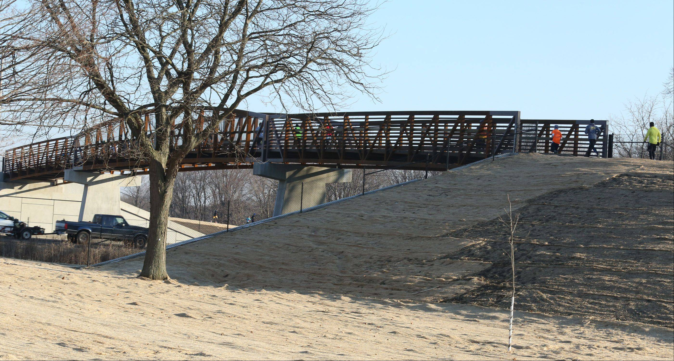 Schaumburg Half Marathon and 5K Turkey Trot is the first event to take advantage of the new bridge over Higgins Road connecting the Busse Woods Trail on its west end near Route 53 in Schaumburg.