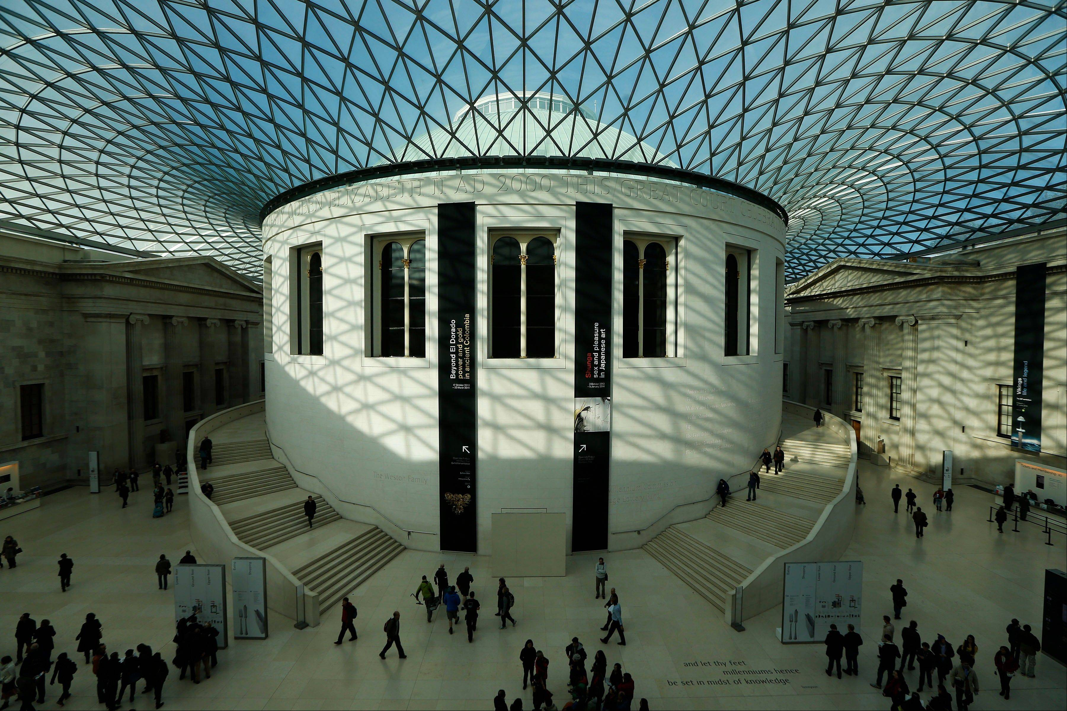 People visit the British Museum in London recently. The museum�s collection covers millennia of human culture, from ancient to modern times, and best of all, admission is free.