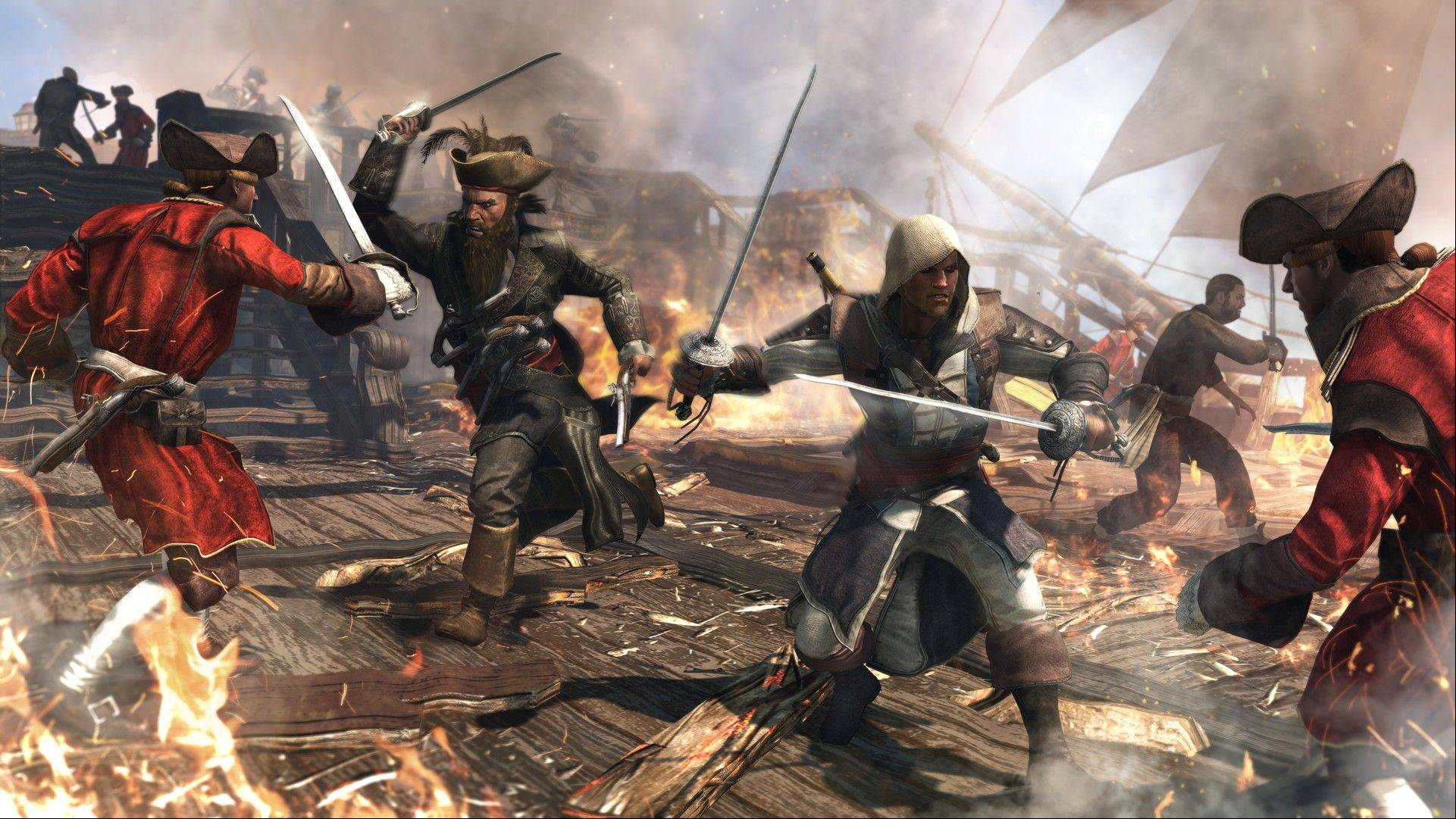 "A scene from ""Assassin�s Creed IV: Black Flag."""