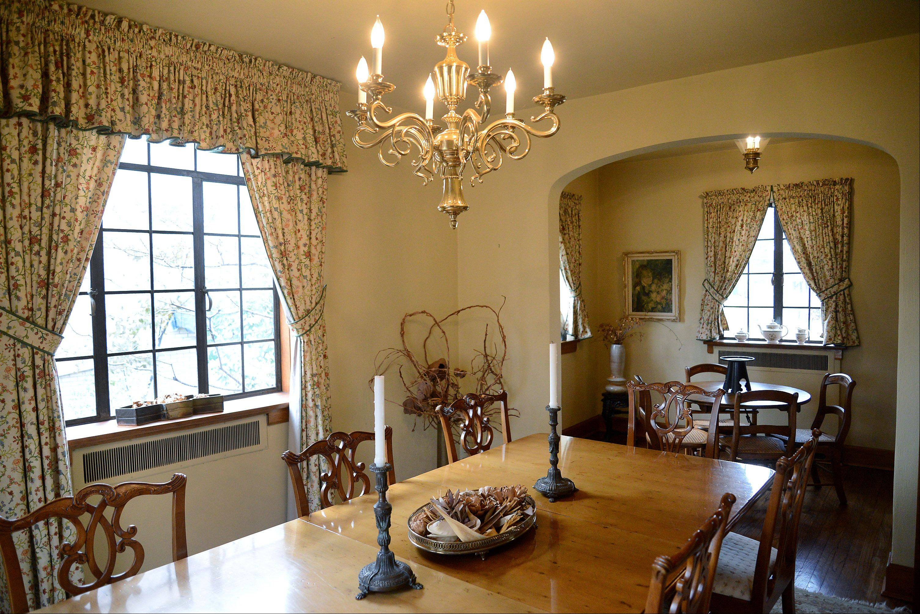 The Moats home, a 1928 Cotswold cottage, that will be featured on this year's Mount Prospect Holiday Housewalk. Dining room.