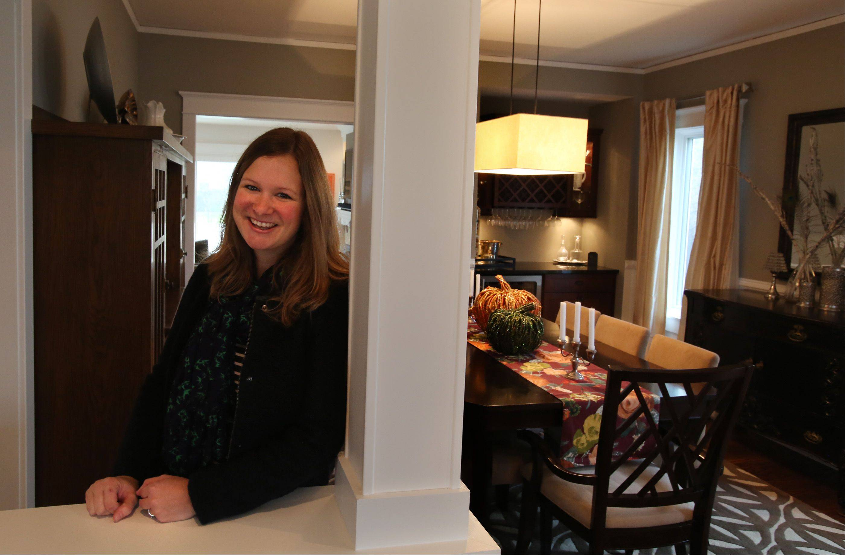Johanna Patterson loves her dining room, where a remodel revealed half-walls that now lead into the space.