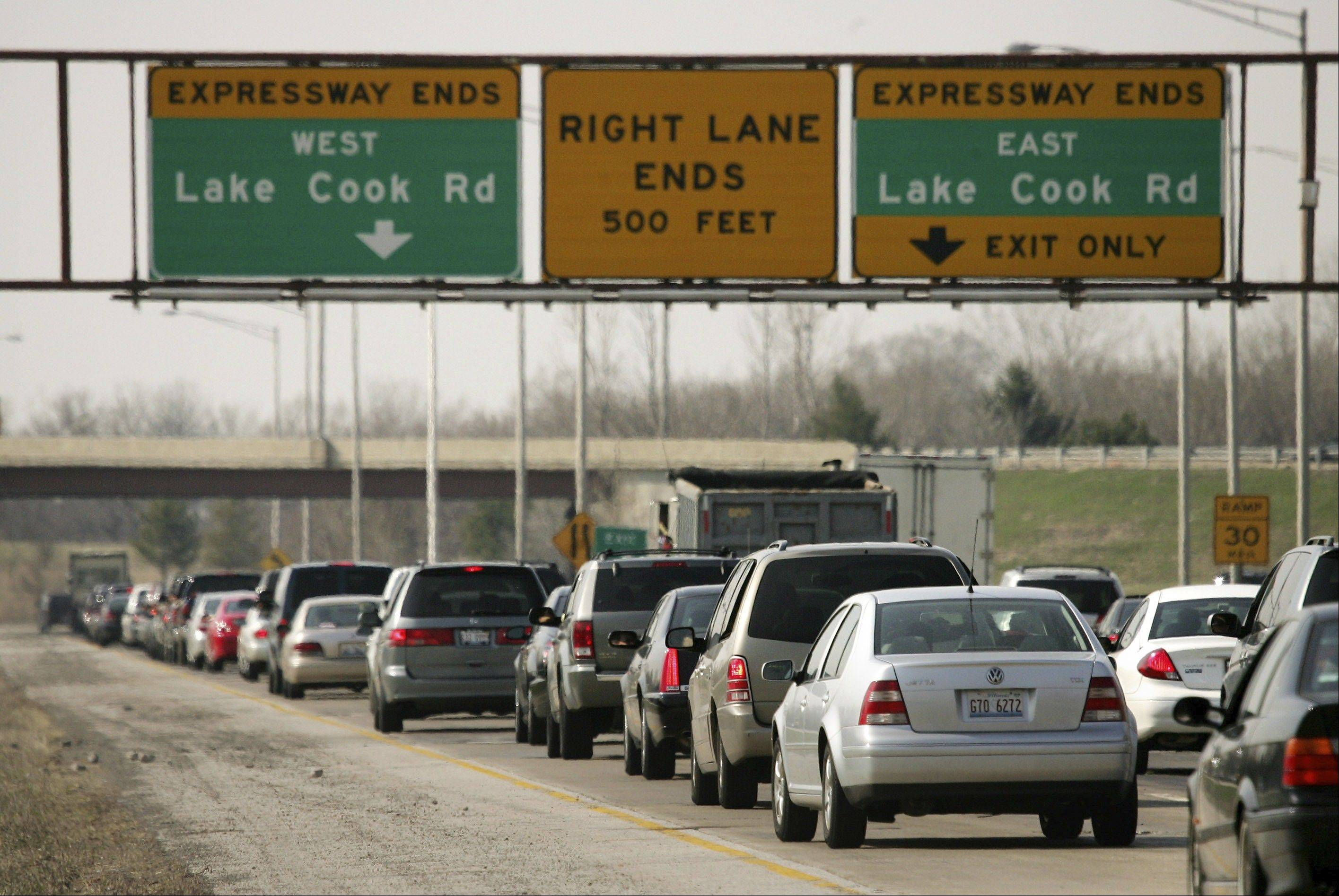 Will drivers pay to drive on an extended Route 53, which now ends at the Lake County border?
