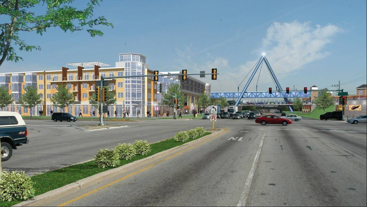 Elk Grove Village officials are proposing a Tax Increment Financing district near Busse and Elmhurst roads that could help fund redevelopment efforts in the area, including streetscape improvements. The TIF is part of a $250 million plan to improve the village's business park.