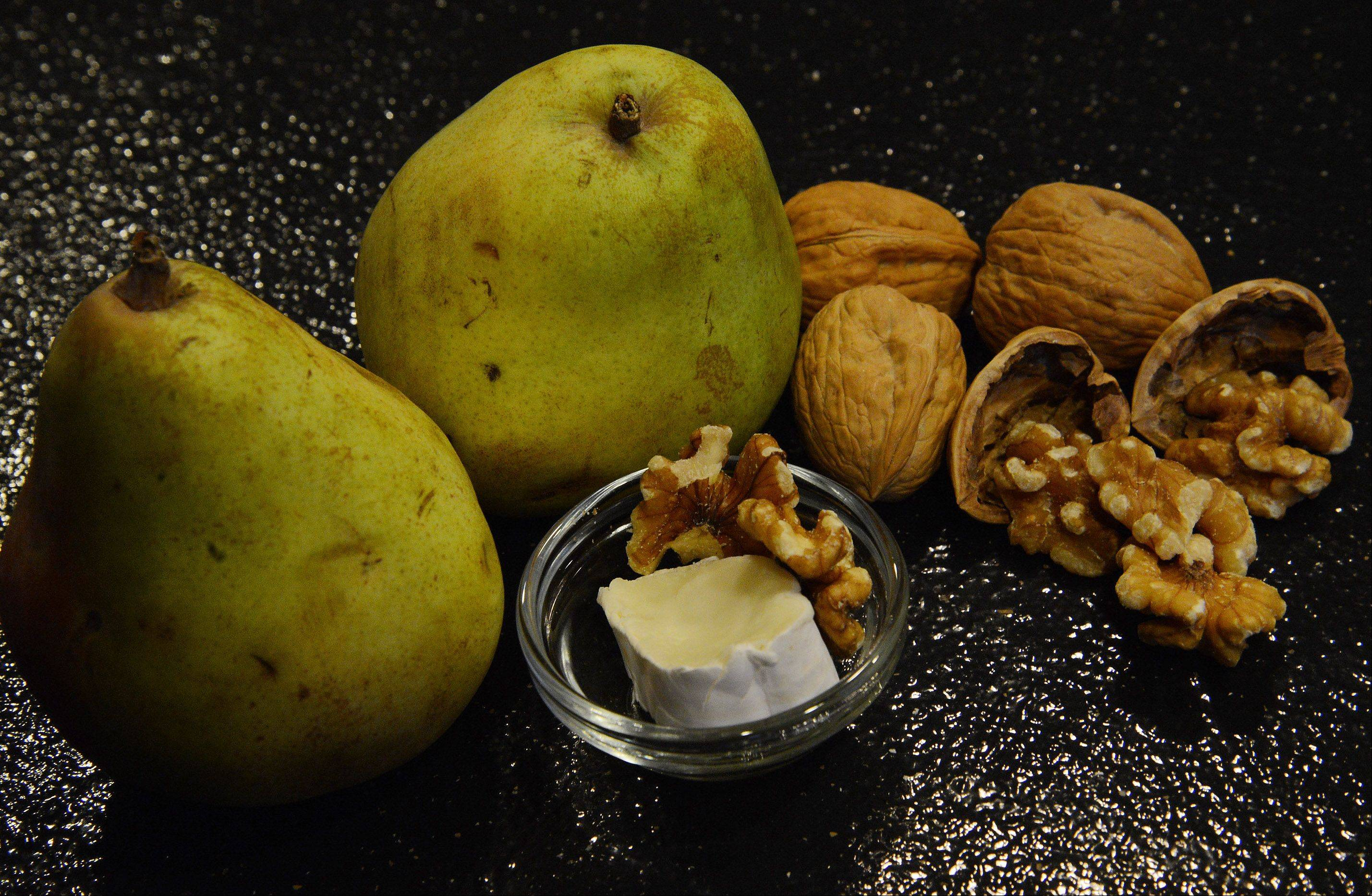 Pears go well with walnuts and brie.