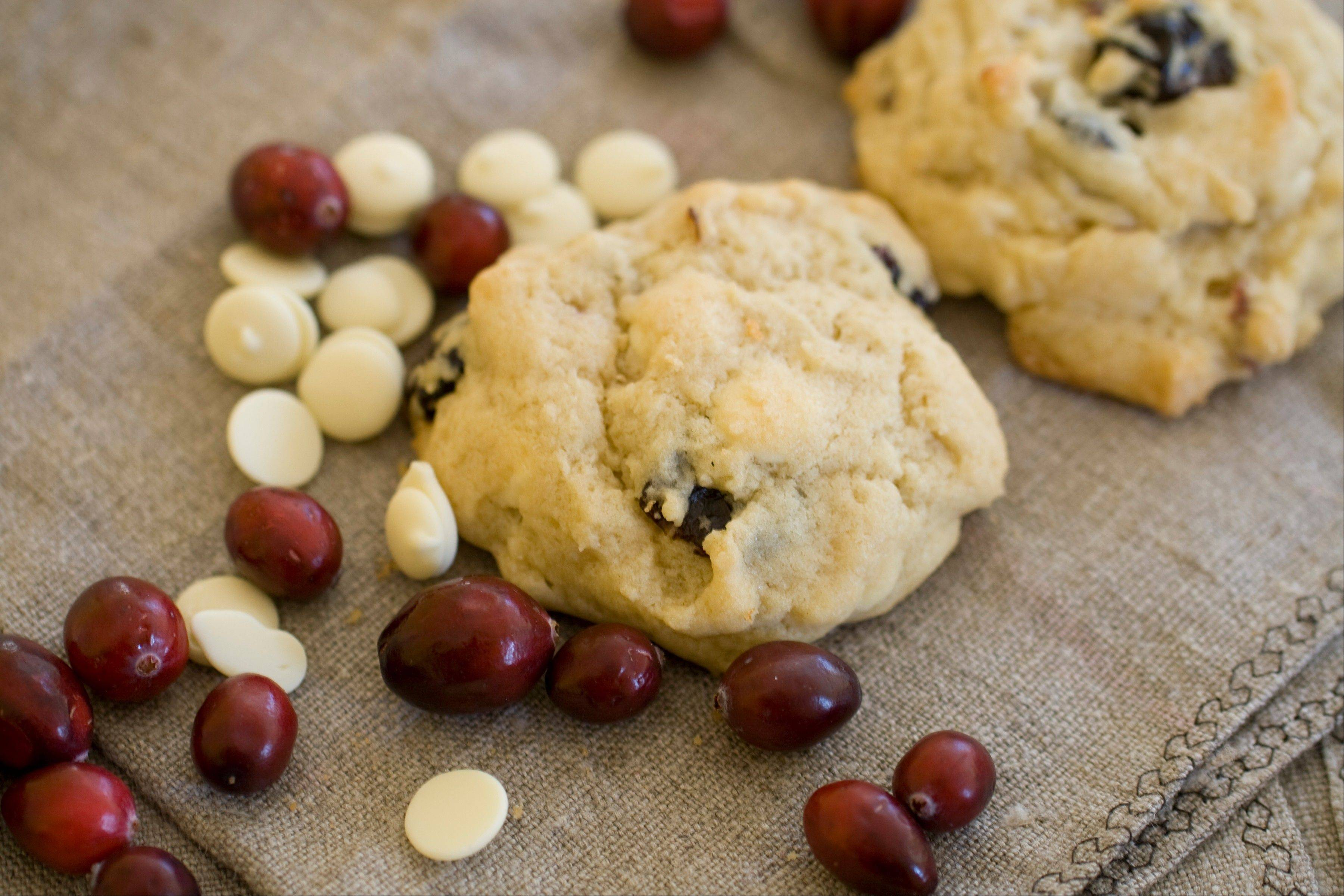 Cherry White Chocolate Drop Cookies take so little time even those who don�t like to bake won�t mind baking.