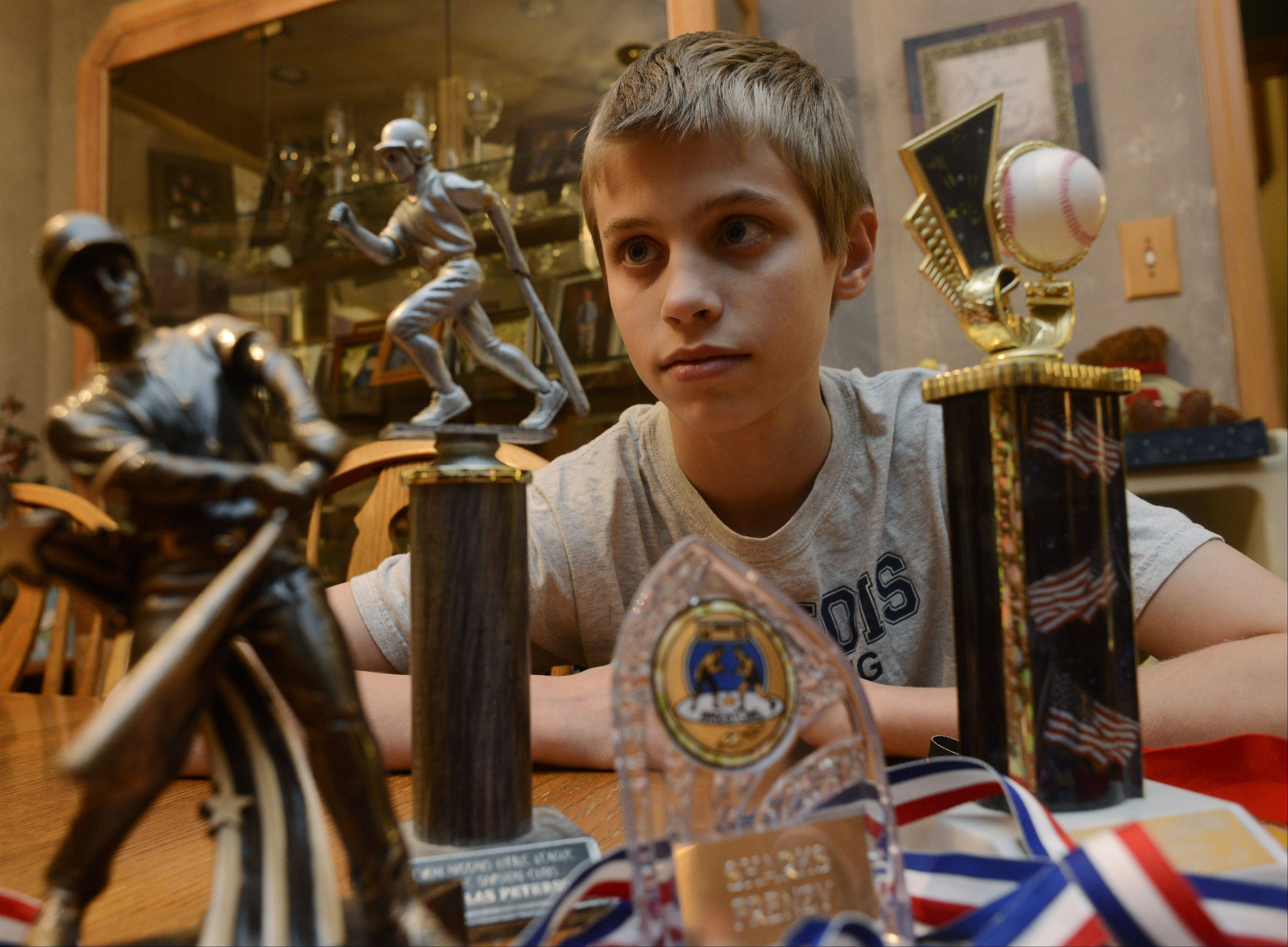 Nick Peterson of Des Plaines is a home-schooled student in Maine Township District 207 who wants to compete on Maine West's wrestling and baseball teams. District rules currently prohibit home-schooled students from taking part in interscholastic athletics, but Nick's parents are urging the school board to allow him to compete.
