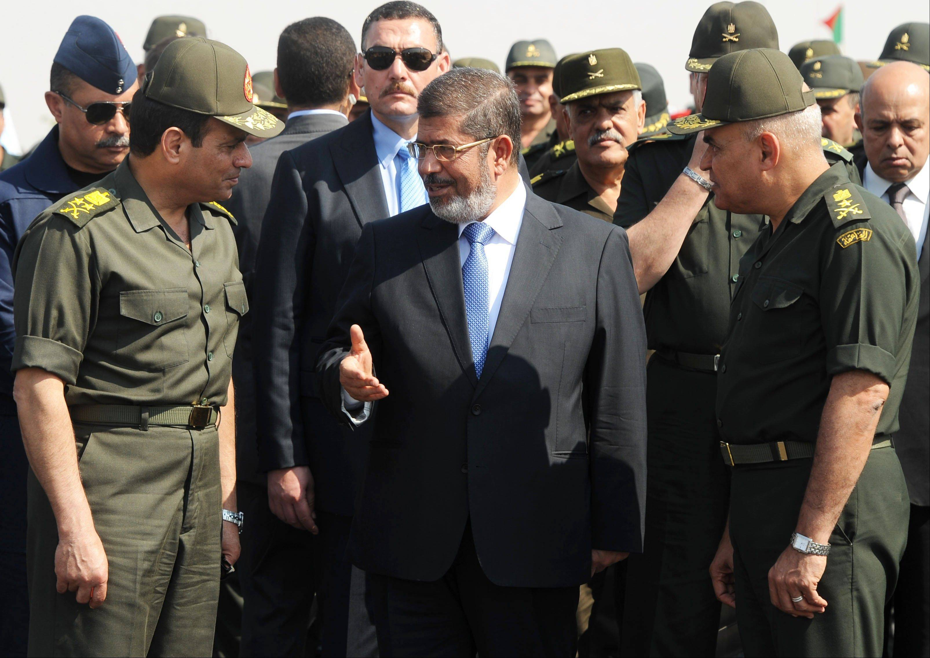 During his year as president, Mohammed Morsi cultivated ties with Islamic radicals, making them a key support for his rule by pardoning dozens of jailed militants, restraining the military from an all-out offensive on jihadis in Sinai and giving their hard-line sheiks a platform to spread their rhetoric.