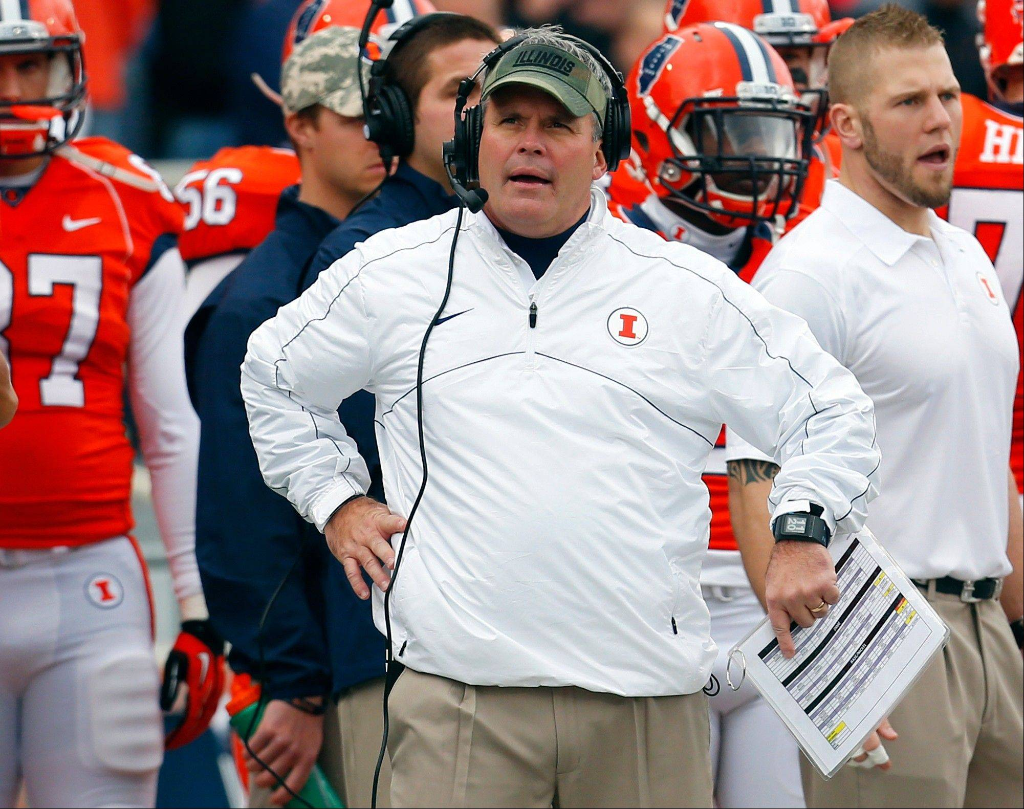 Tim Beckman, who recently said he would not cheat to win, will be back next season to coach the Illinois football team.