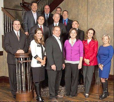 2014 BACC Board of Directors: top row: Dr. Reinhold Llererna, Tom Strenk, Matthew Mason, Barry Schimmel; second row: Jason Hegna, Steve Cook, Frank McGovern, Keith Hanson; front: Christina Currie, Doug McAllister, Liz Luby, Connie Antoniou, Heidi Seagren (not pictured: Andrea Herran, Lisa O'Neil, Regina Verdico)
