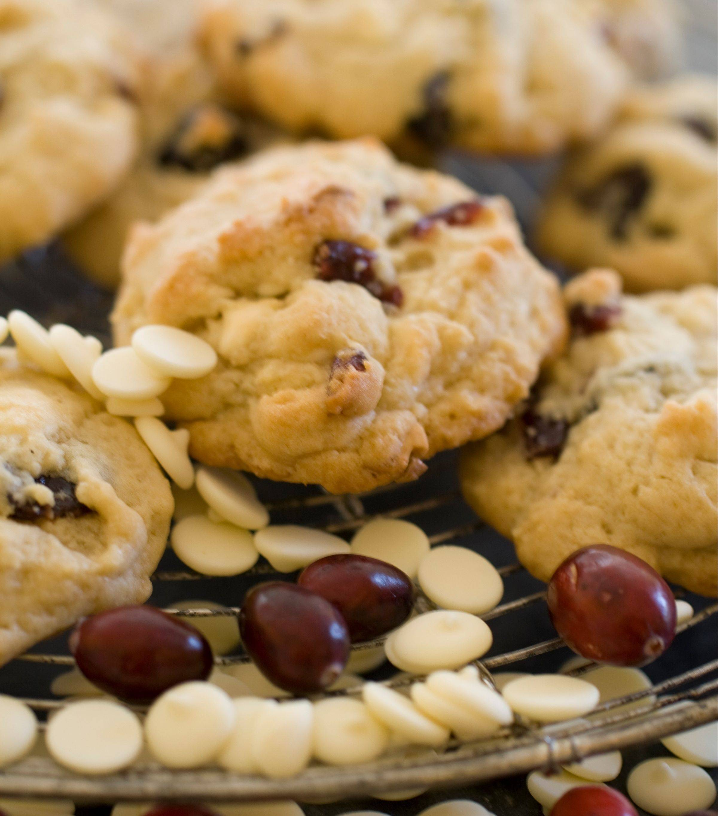 Ditch the holiday baking guilt with an easy, and flexible, recipe for cherry white chocolate drop cookies.