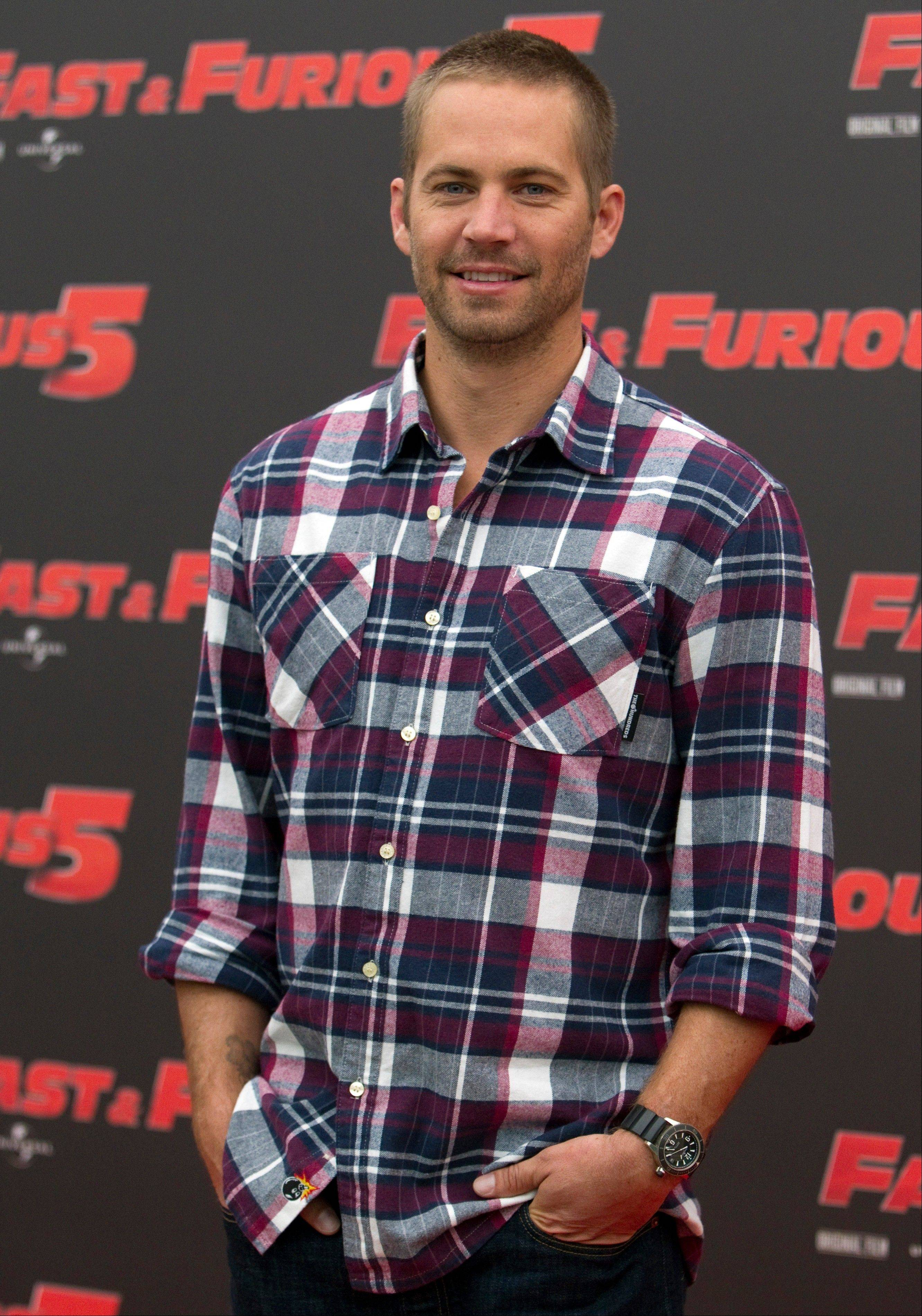 "Paul Walker at the photo call of the movie ""Fast and Furious 5"" in Rome. Walker and his friend Roger Rodas died in the one-car crash Saturday in Valencia, Calif."