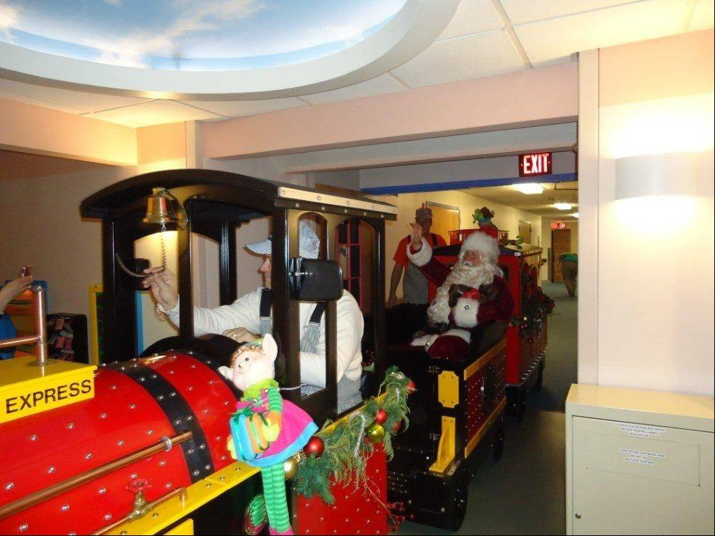 This year, Advocate Children's Hospital in Park Ridge will feature a special train for young patients to ride during the holiday season.