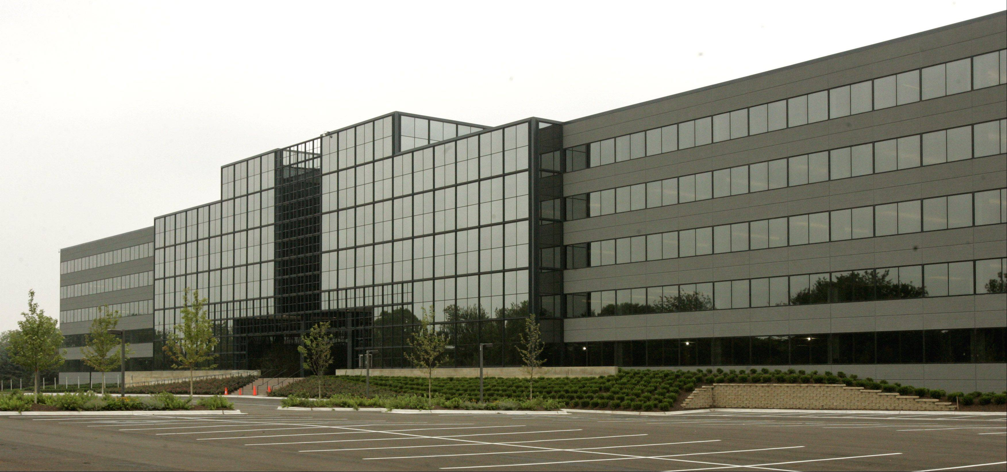 The former OfficeMax headquarters in Naperville.