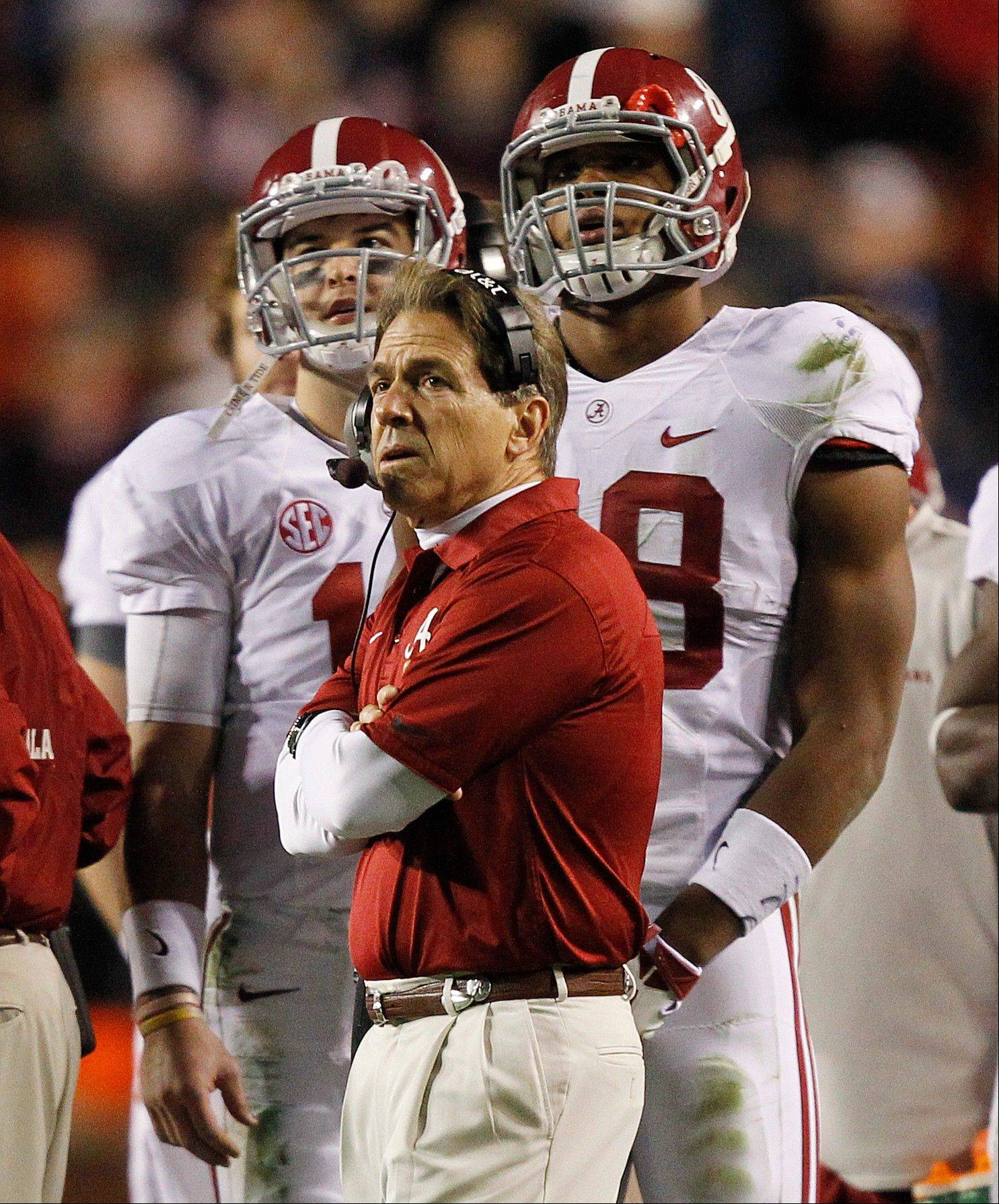 Alabama head coach Nick Saban passed up a 30-yard field goal opportunity against Auburn and his offense was stopped on foruth down. His decision to go for a last-second field-goal try to win the game backfired when Auburn returned the kick for a touchdown to win the game.