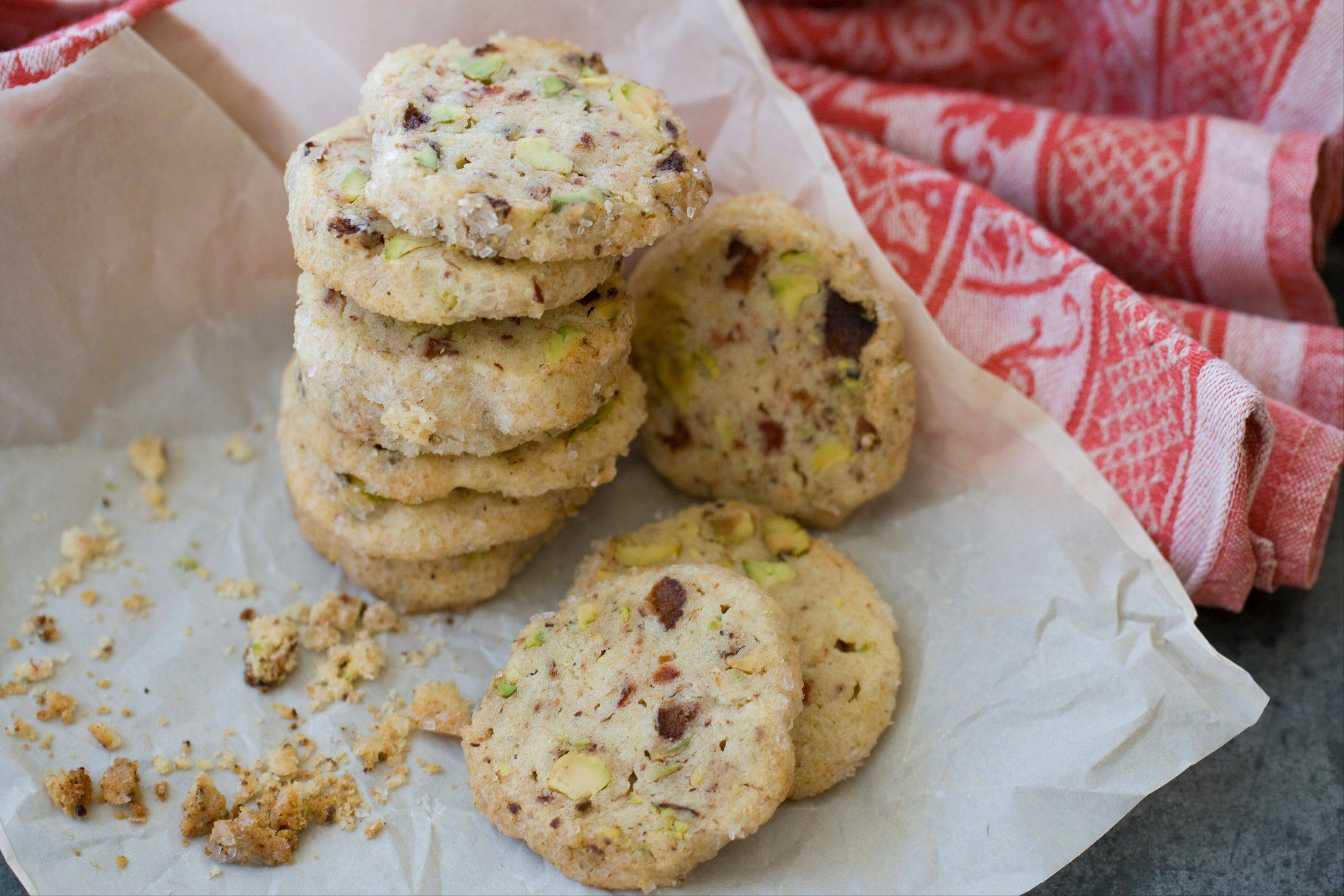 Stawberry Pistachio Icebox Cookies