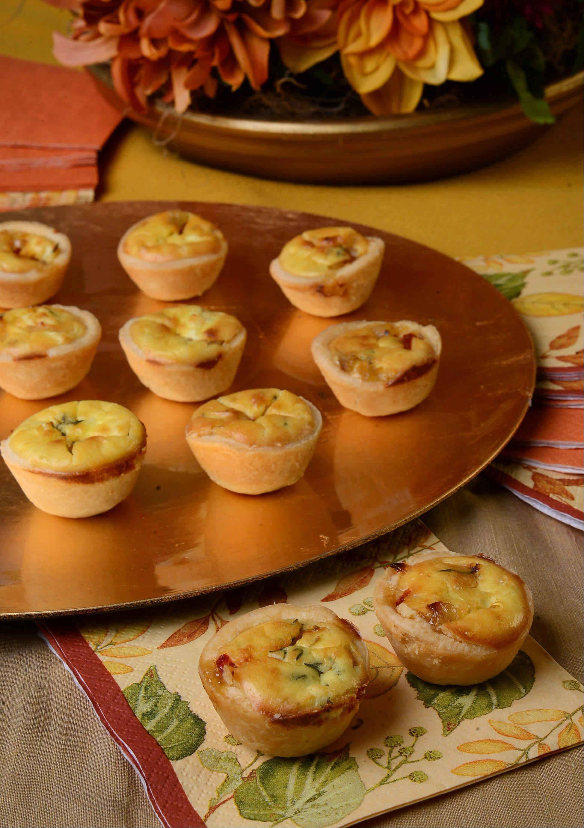 Kids who want to help their parents get ready for a holiday party can put together these cheesy mini quiches. This is a very easy-to-follow recipe.