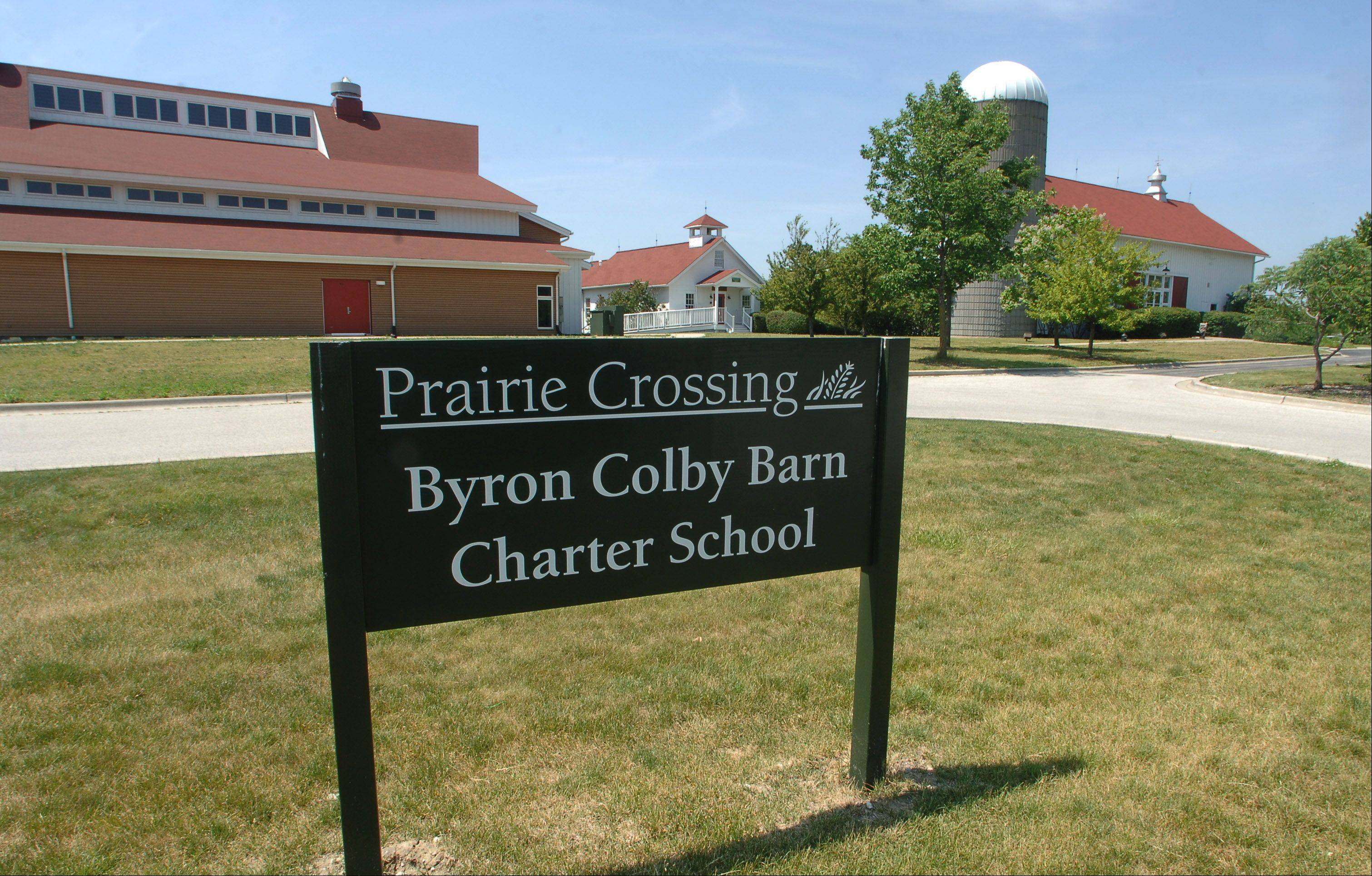 Prairie Crossing Charter School is near Byron Colby Barn in a subdivision by the same name in Grayslake. The school seeks another five-year renewal of its state charter.