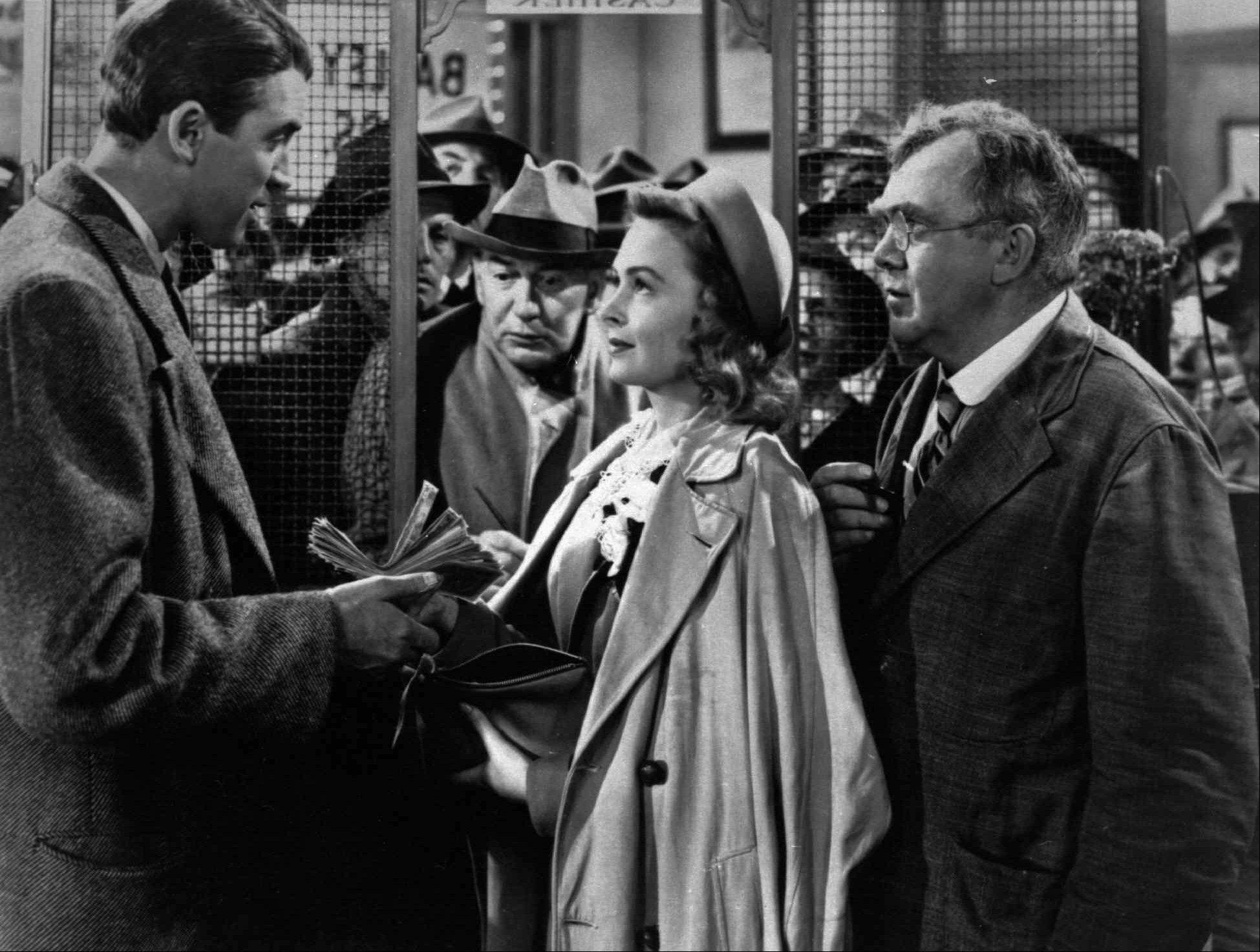"See a free screening of the classic holiday film ""It's A Wonderful Life,"" starring, from left, James Stewart, Donna Reed and Thomas Mitchell, at Palatine's Cutting Hall Performing Arts Center."