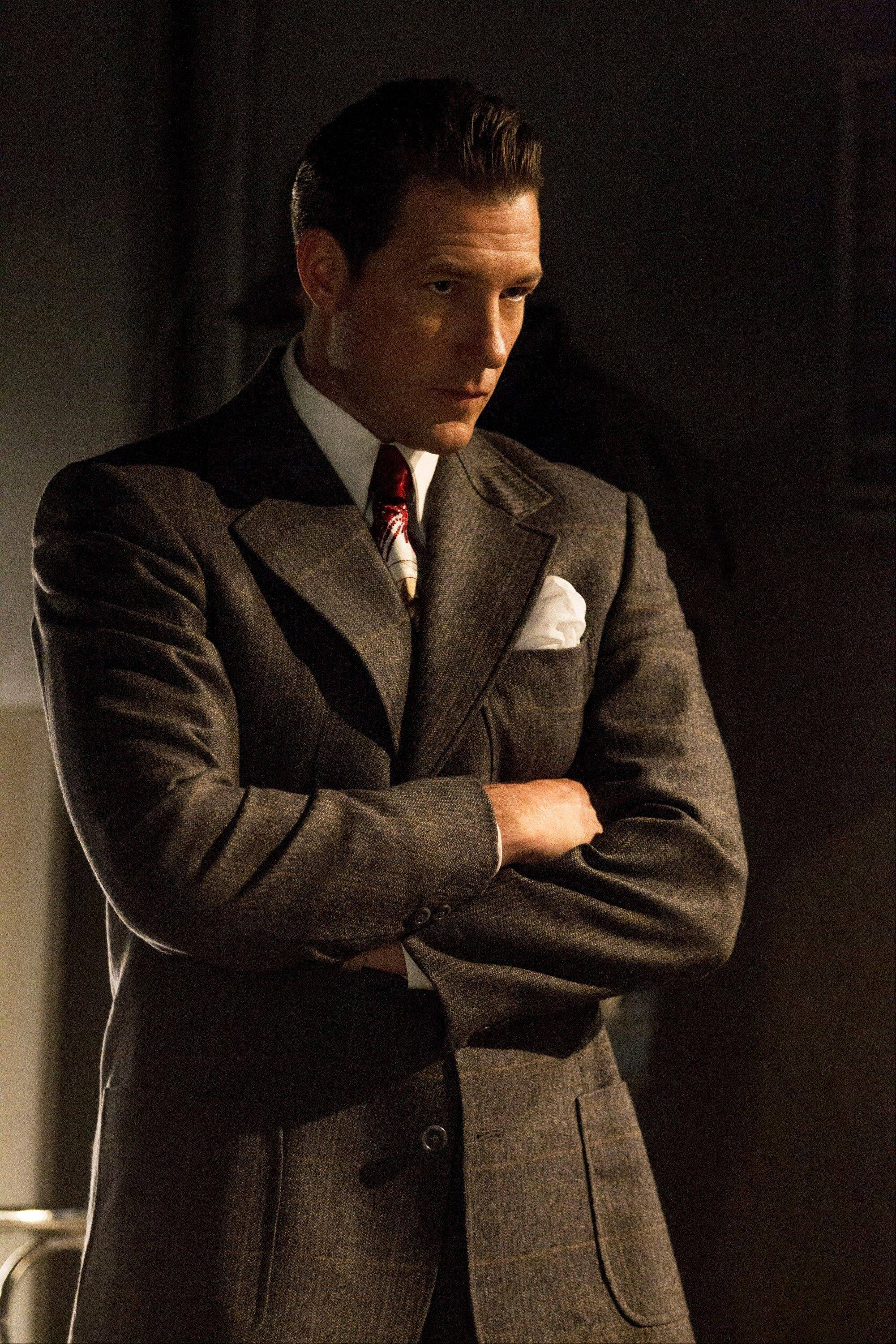"Gangsters Ben ""Bugsy"" Siegel is played by Ed Burns in the new TNT drama series ""Mob City,"" debuting Wednesday."