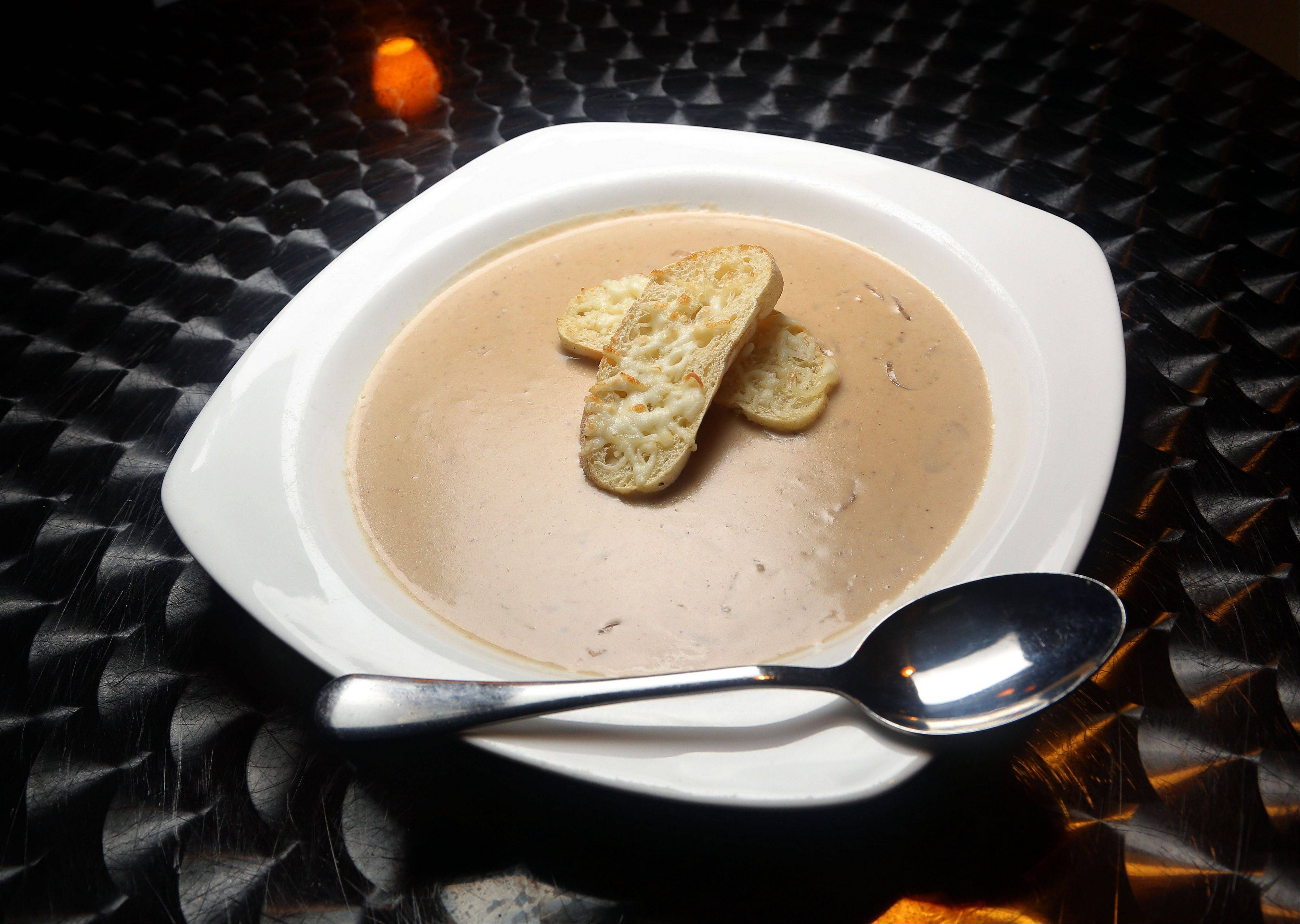 French onion soup gets a creamy update at Spice Restaurant and Lounge in Gurnee.