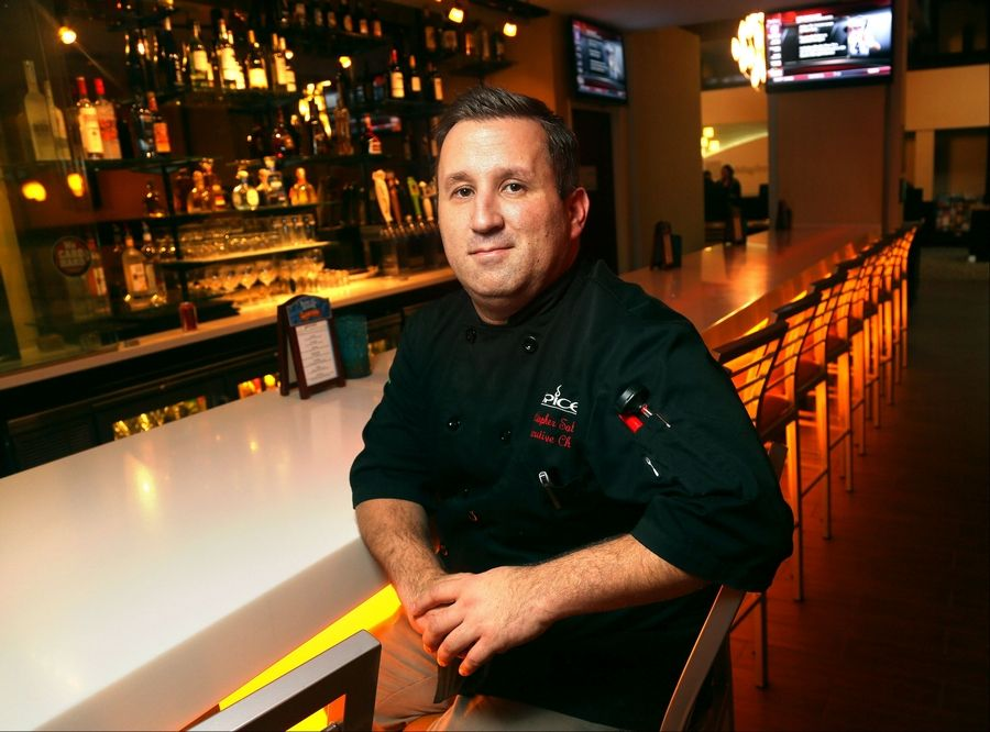 Chef Christopher Solare's resume includes a stint as a White House chef. He now shares his culinary vision at Spice Restaurant and Lounge at the Holiday Inn in Gurnee.