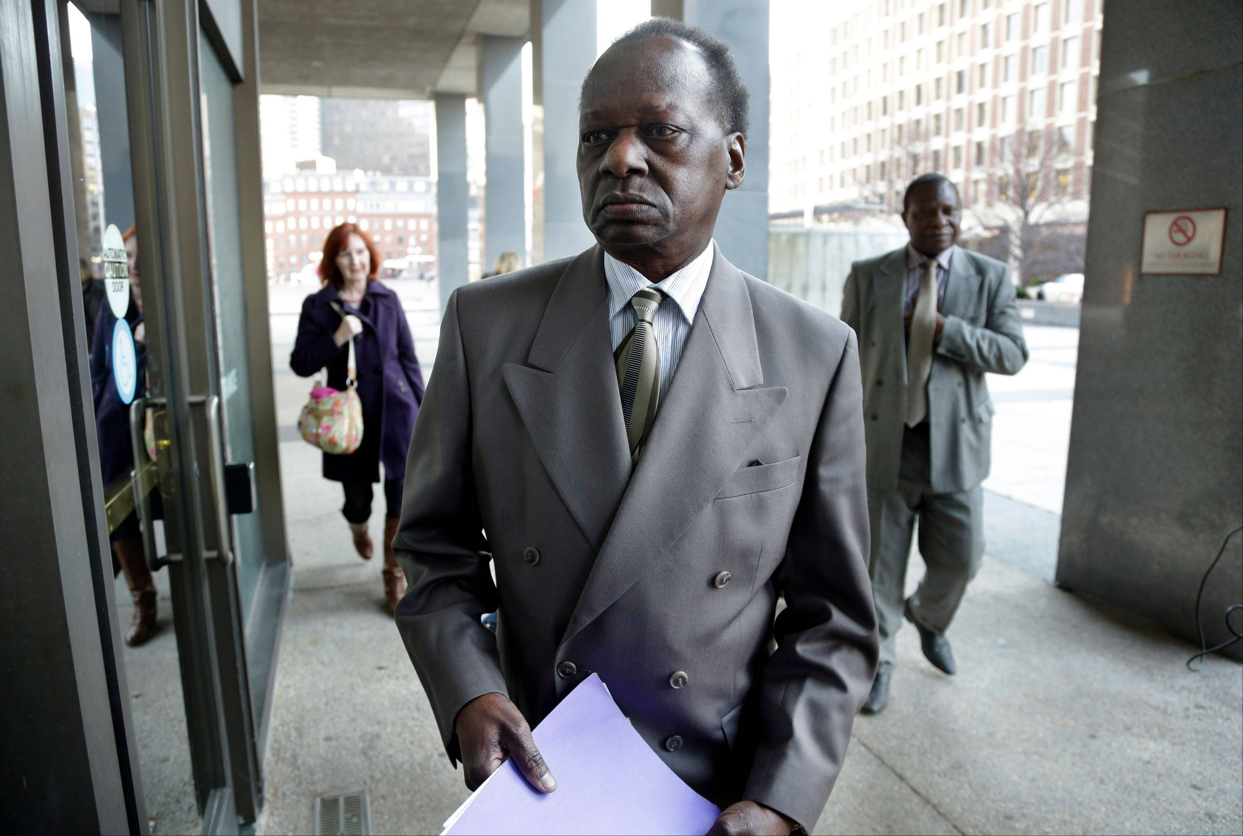 Onyango Obama, President Barack Obama's Kenyan-born uncle, arrives at U.S. Immigration Court for a deportation hearing Tuesday.