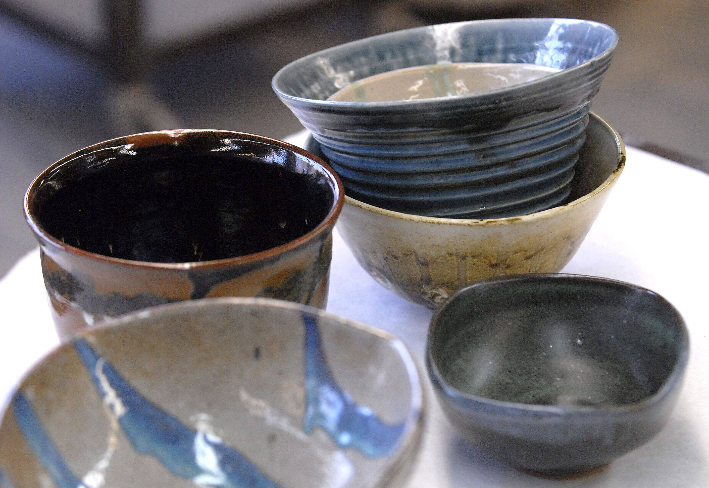 "The 10th annual Empty Bowls fundraiser comes to Oakton Community College's Des Plaines campus on Dec. 7. For $14 participants select a handcrafted bowl, like the ones pictured here from a previous fundraiser, and enjoy a meal of soup and bread as a reminder that ""someone's bowl is always empty."""
