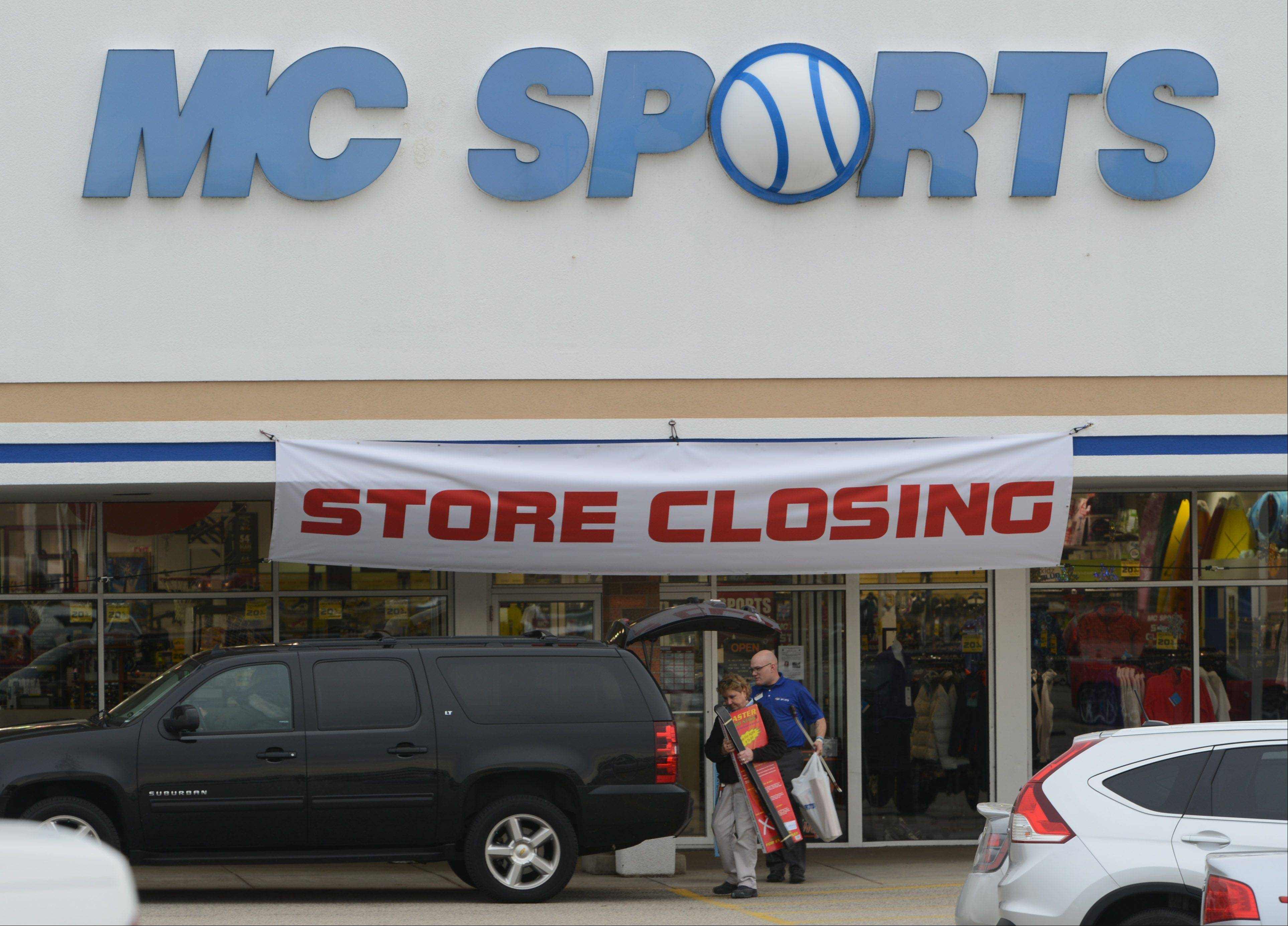 Paul Valade/pvalade@dailyherald.com Employees of MC Sports in Lake Zurich were told the store will close in January.