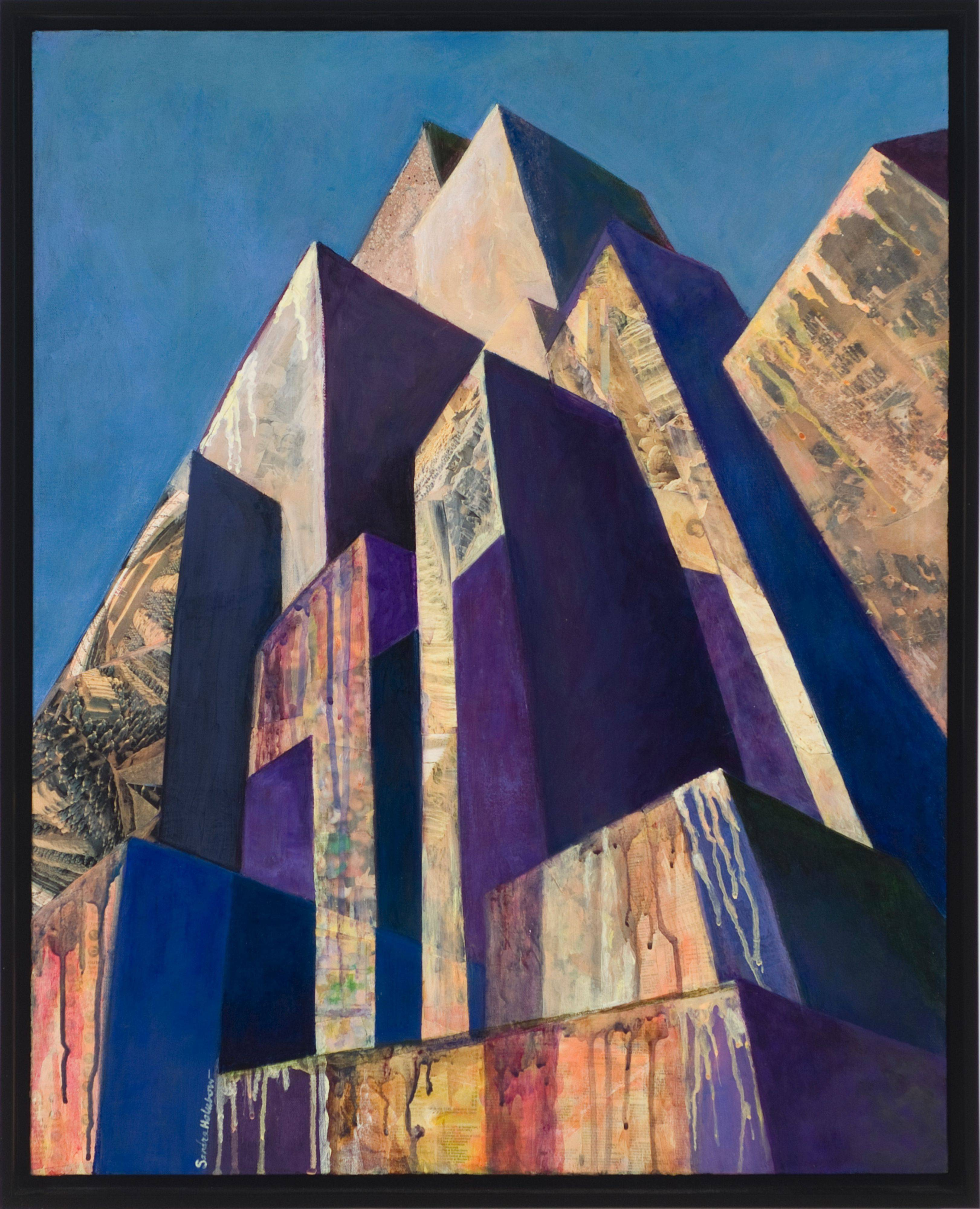 This art work by Sandra Holubow, titled Canyon, Collage, is part of an exhibit opening Thursday, Dec. 12, at Koehnline Museum in Des Plaines.