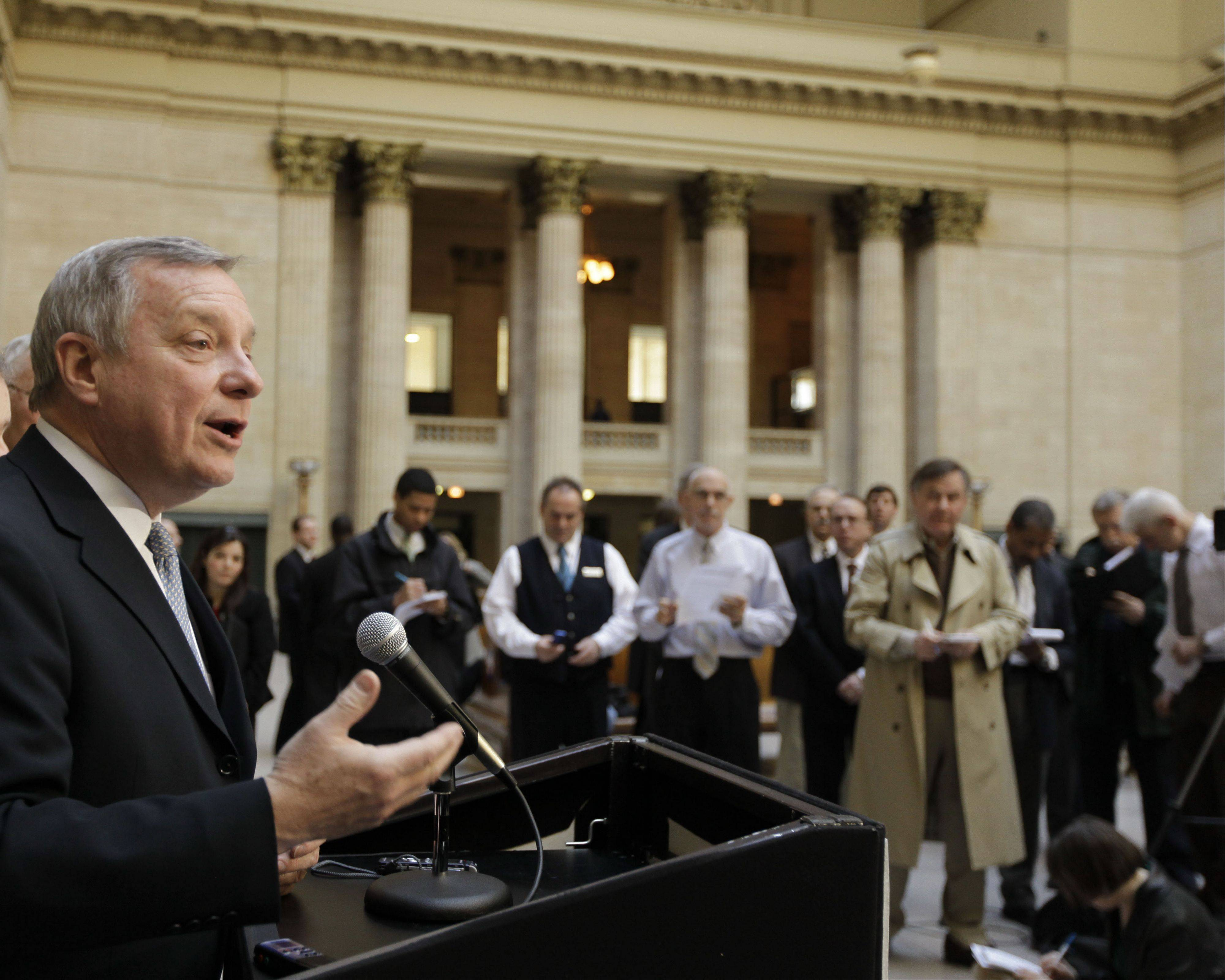 U.S. Sen. Dick Durbin wants Metra to clarify when it will install Positive Train Control.
