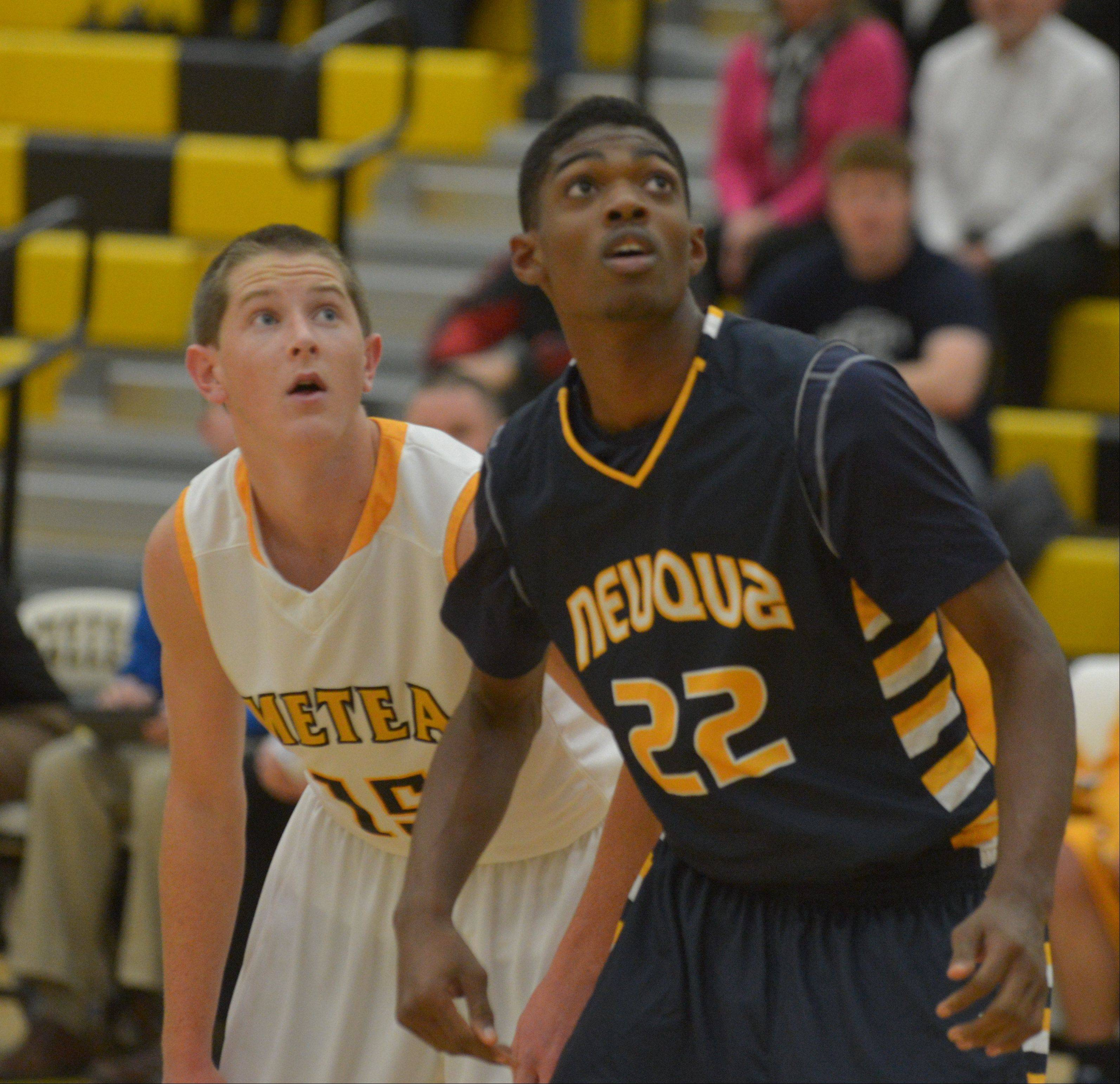 Photos from the Neuqua Valley at Metea Valley boys basketball game on Thursday, Dec. 5.