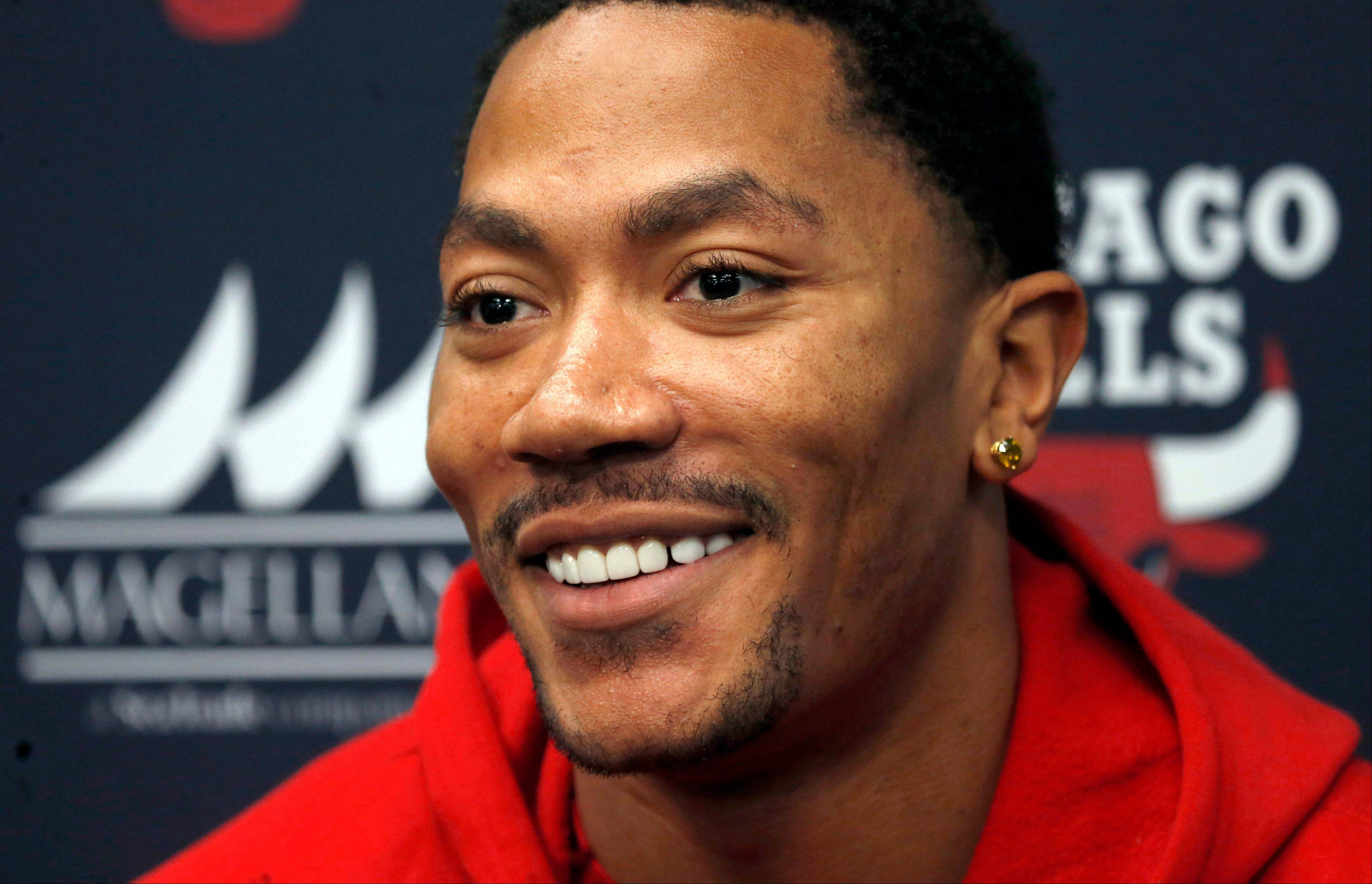 Chicago Bulls guard Derrick Rose, in his first public news conference since his latest knee injury, says he expects a full recovery and he wouldn't rule out returning this season.