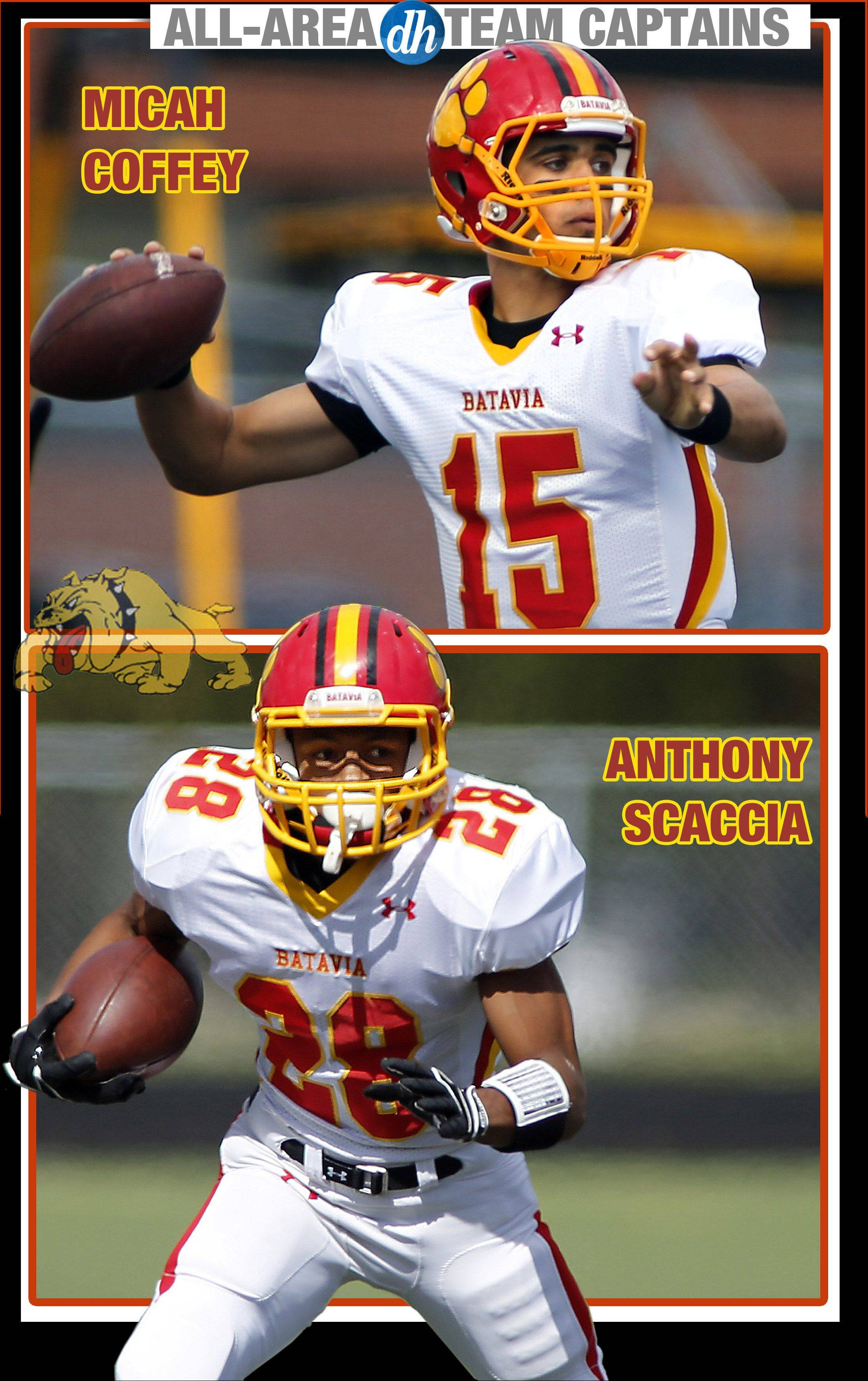 Batavia�s Micah Coffey and Anthony Scaccia are Daily Herald All-Area Team Captains in football.