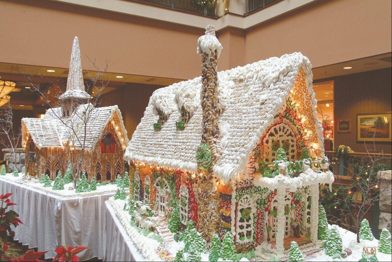 Point the vehicle south for a country-style Christmas, with elaborate gingerbread houses, at the AAA Four-Diamond rated Chateau on the Lake Resort & Spa in Branson, MO. Through Dec. 30.