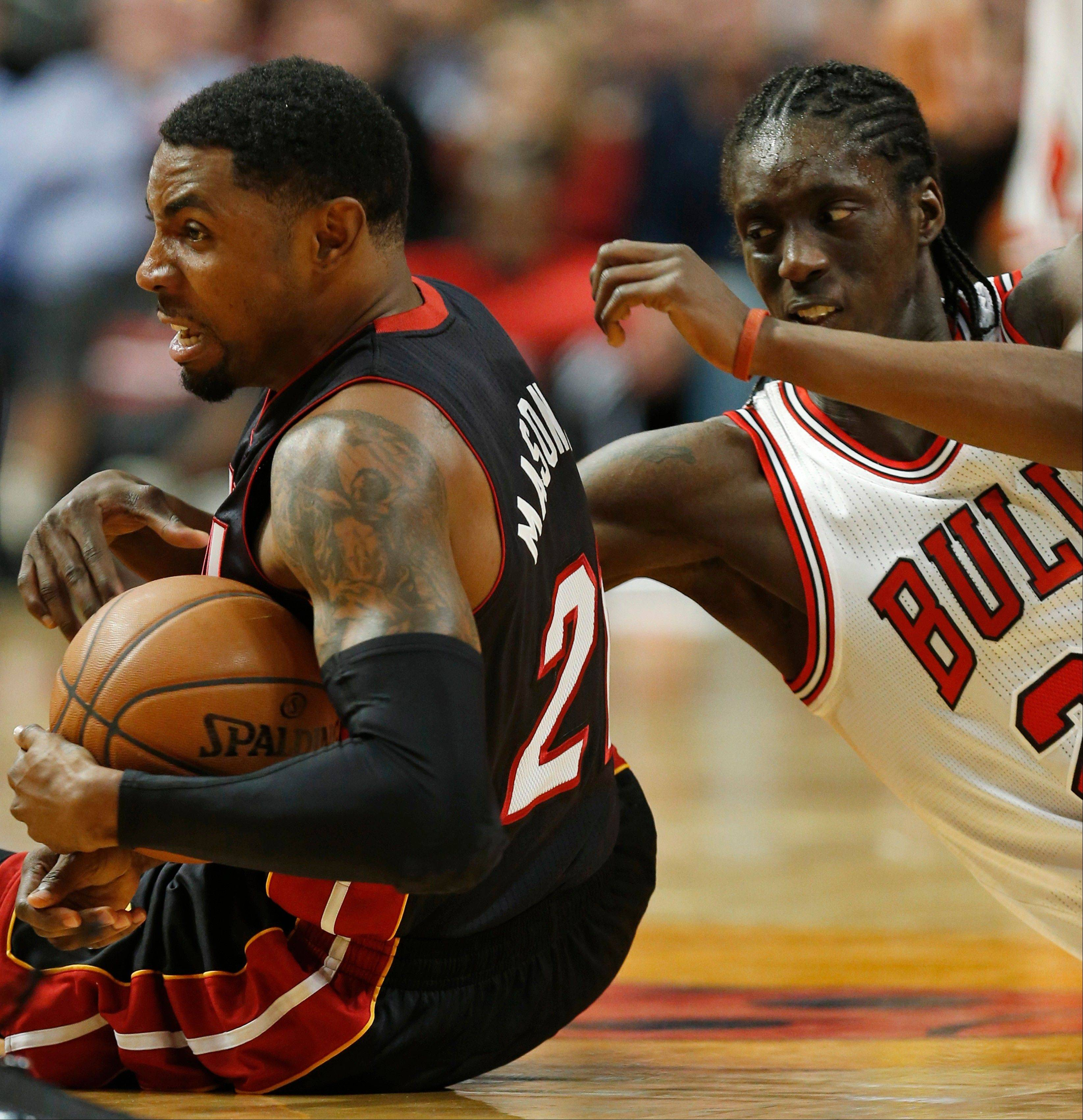Tony Snell of the Bulls was much more comfortable Thursday playing against the Heat than he was in Miami on opening night.