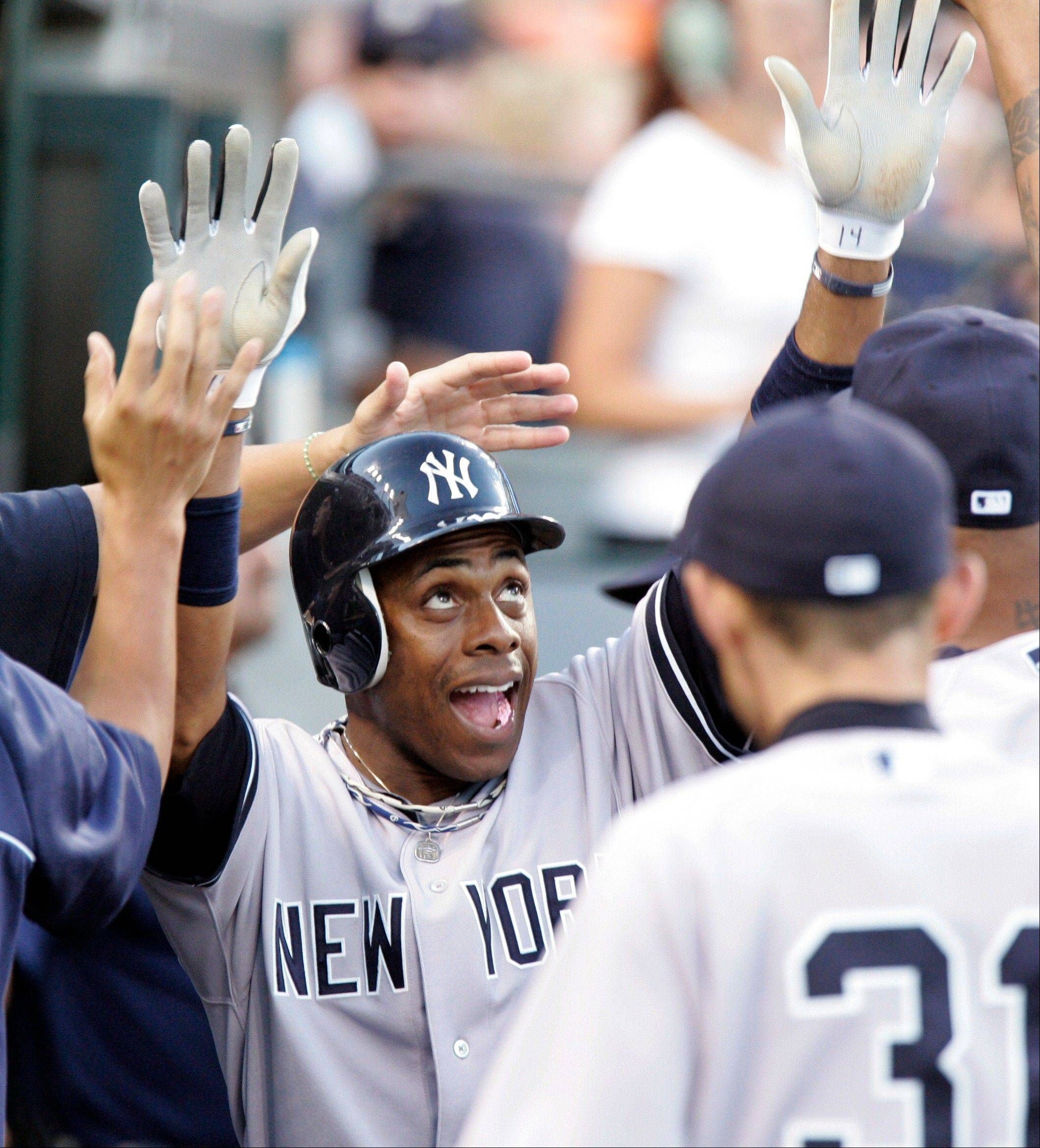 The New York Yankees� Curtis Granderson batted .229 with seven homers and 15 RBIs this year, when wrist and hand injuries limited him to 61 games.