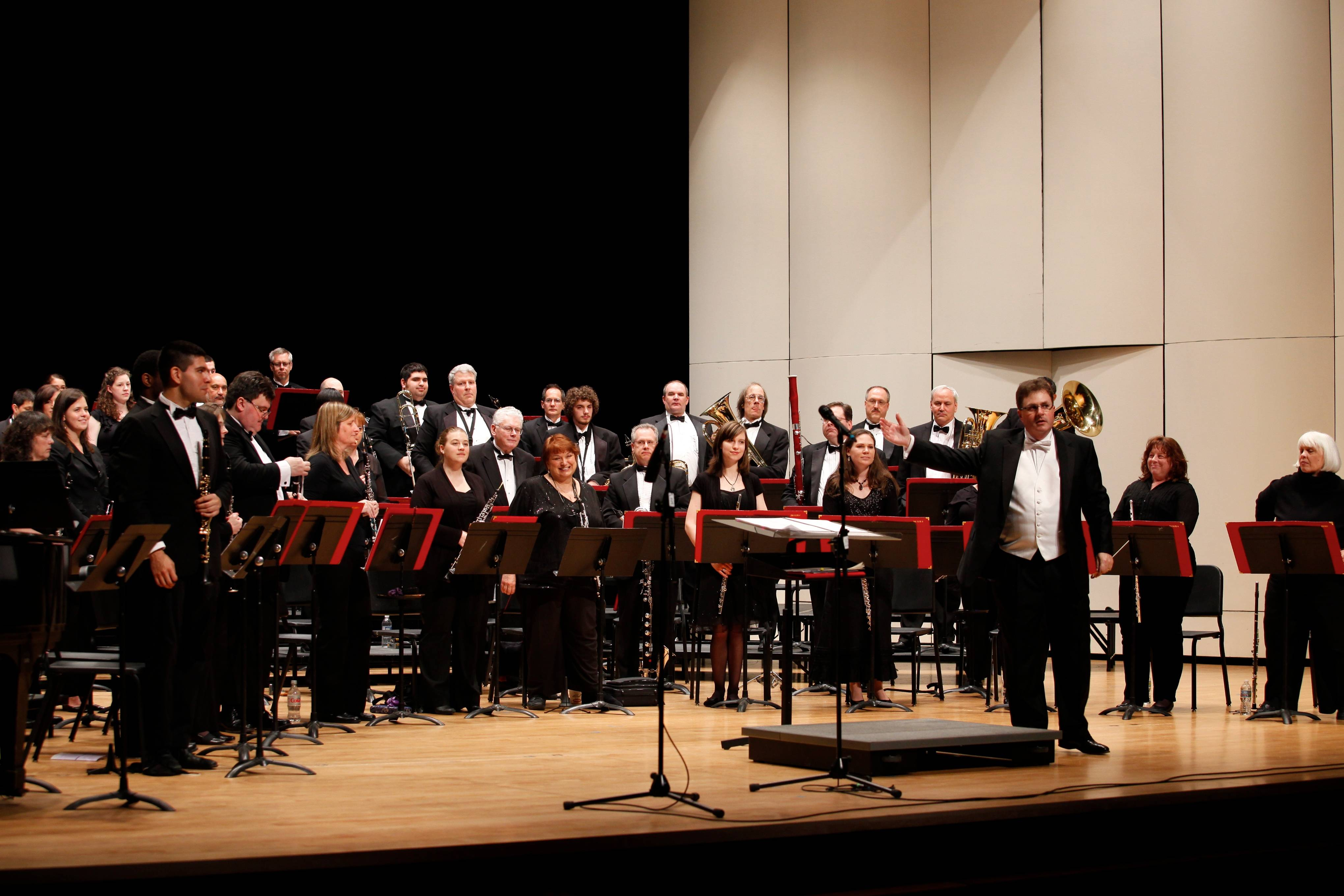 College of Lake County Wind Ensemble performing at the May 2013 Guest Artist Concert, conducted by Dr. Michael Flack.