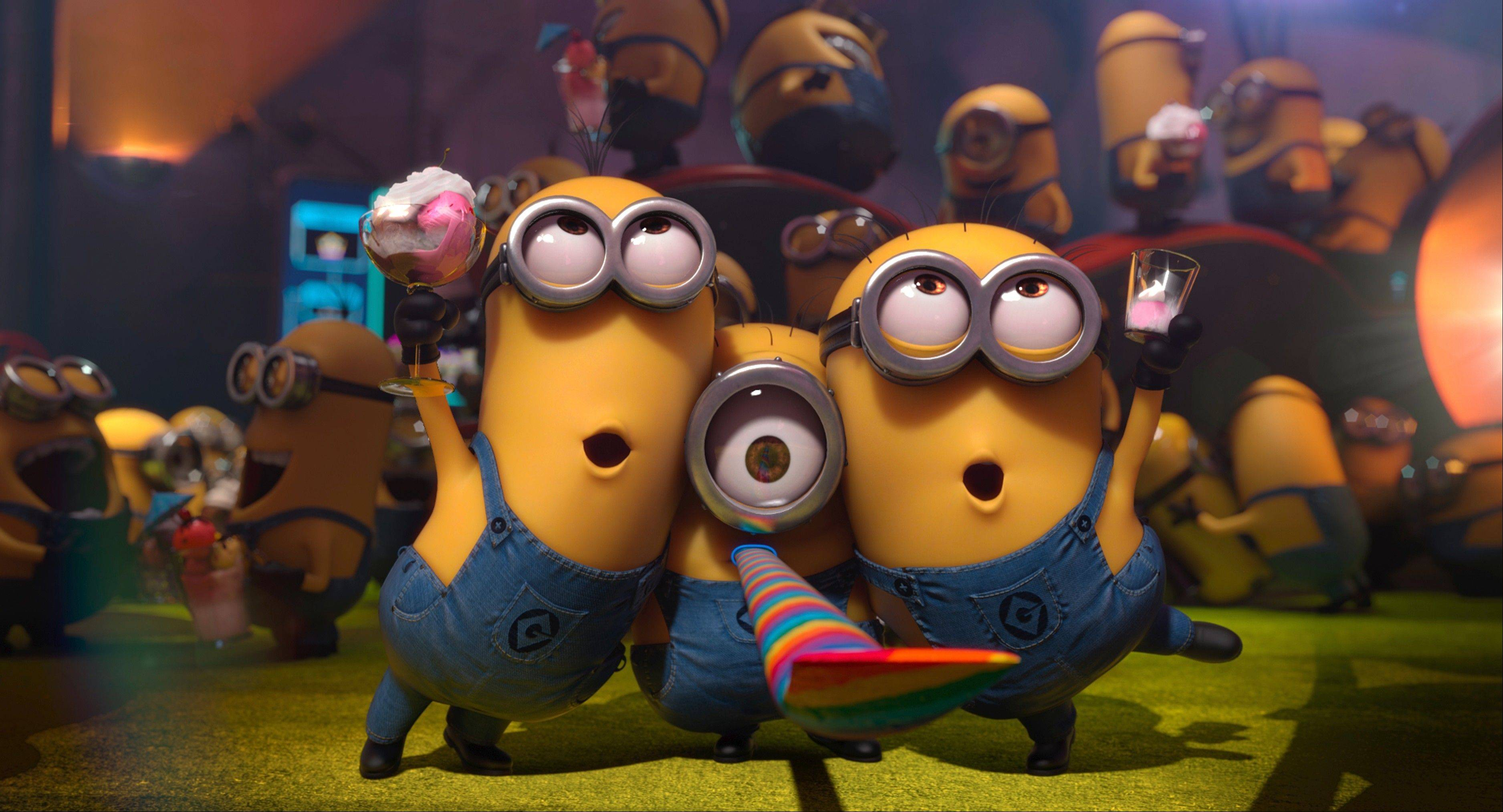 "The Minions play bigger roles in the new comedy sequel ""Despicable Me 2."""