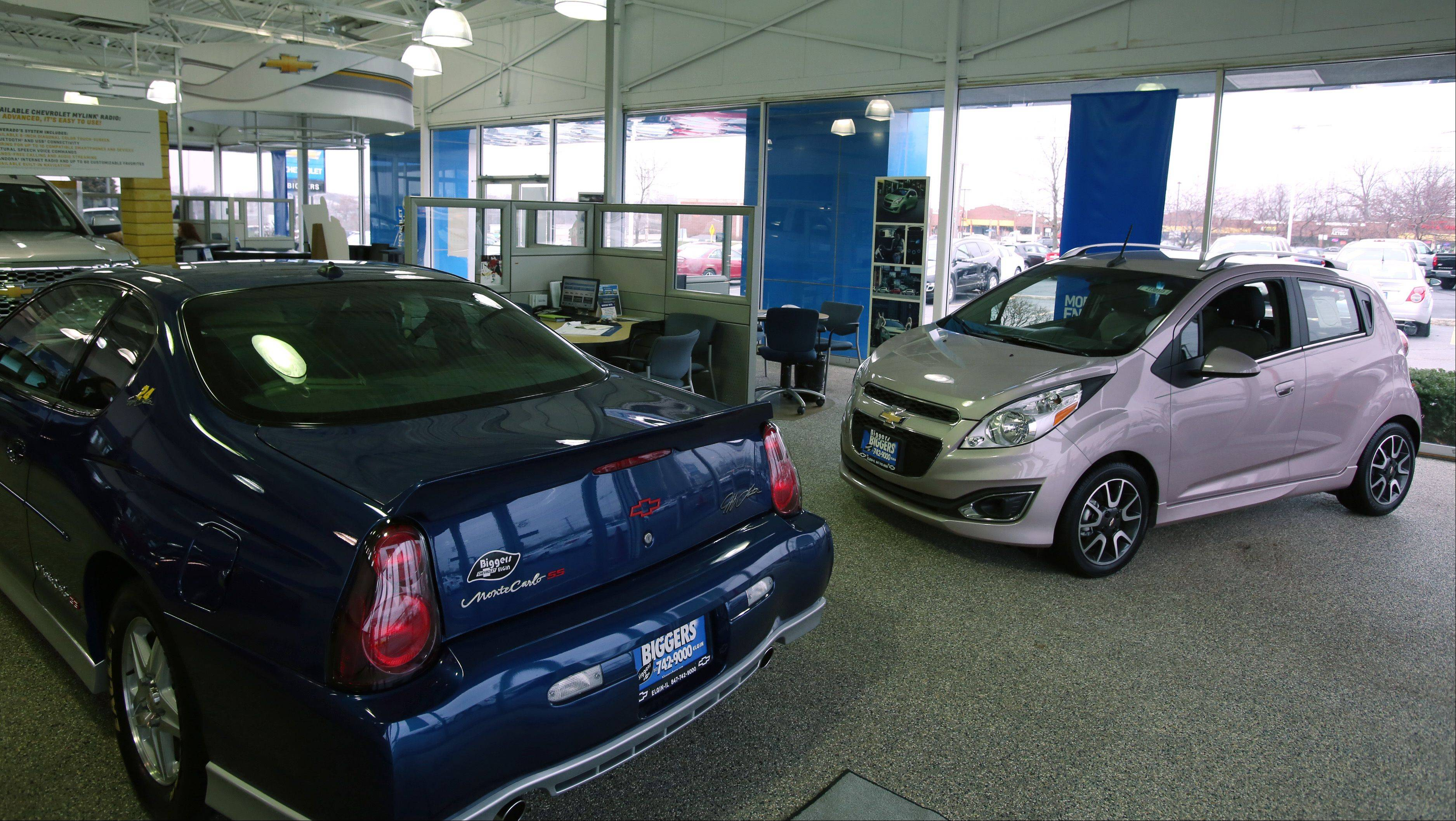 A showroom view of Biggers Chevrolet in Elgin.