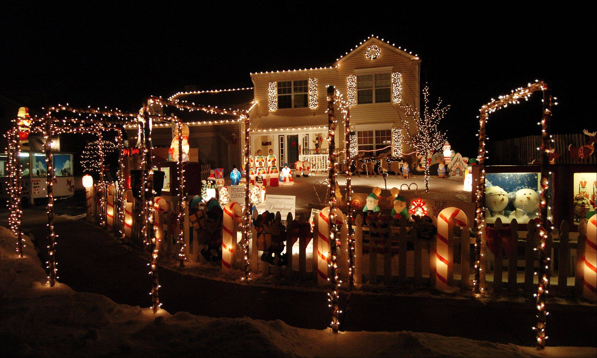 Tom Johnson won the decorating contest in 2008. His home at 7 Dover Court in Streamwood is decked out again this year.